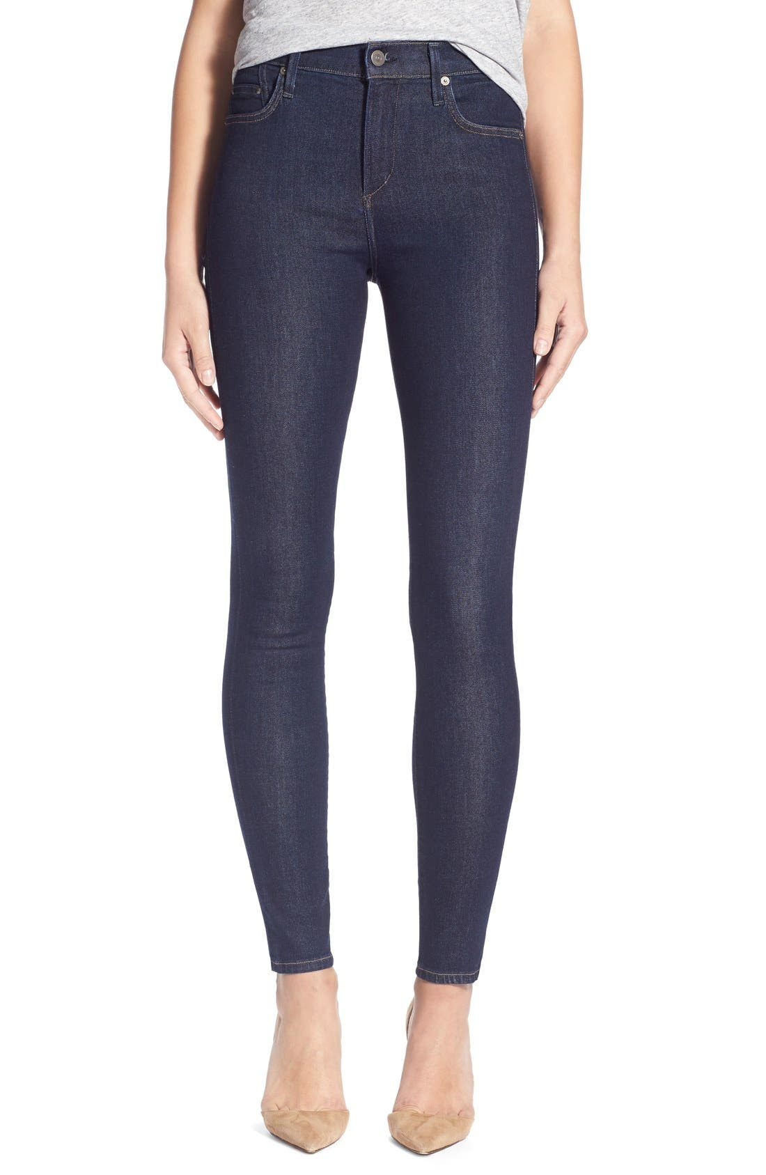 Main Image - Citizens of Humanity 'Sculpt - Rocket' High Rise Skinny Jeans (Clean Blue)
