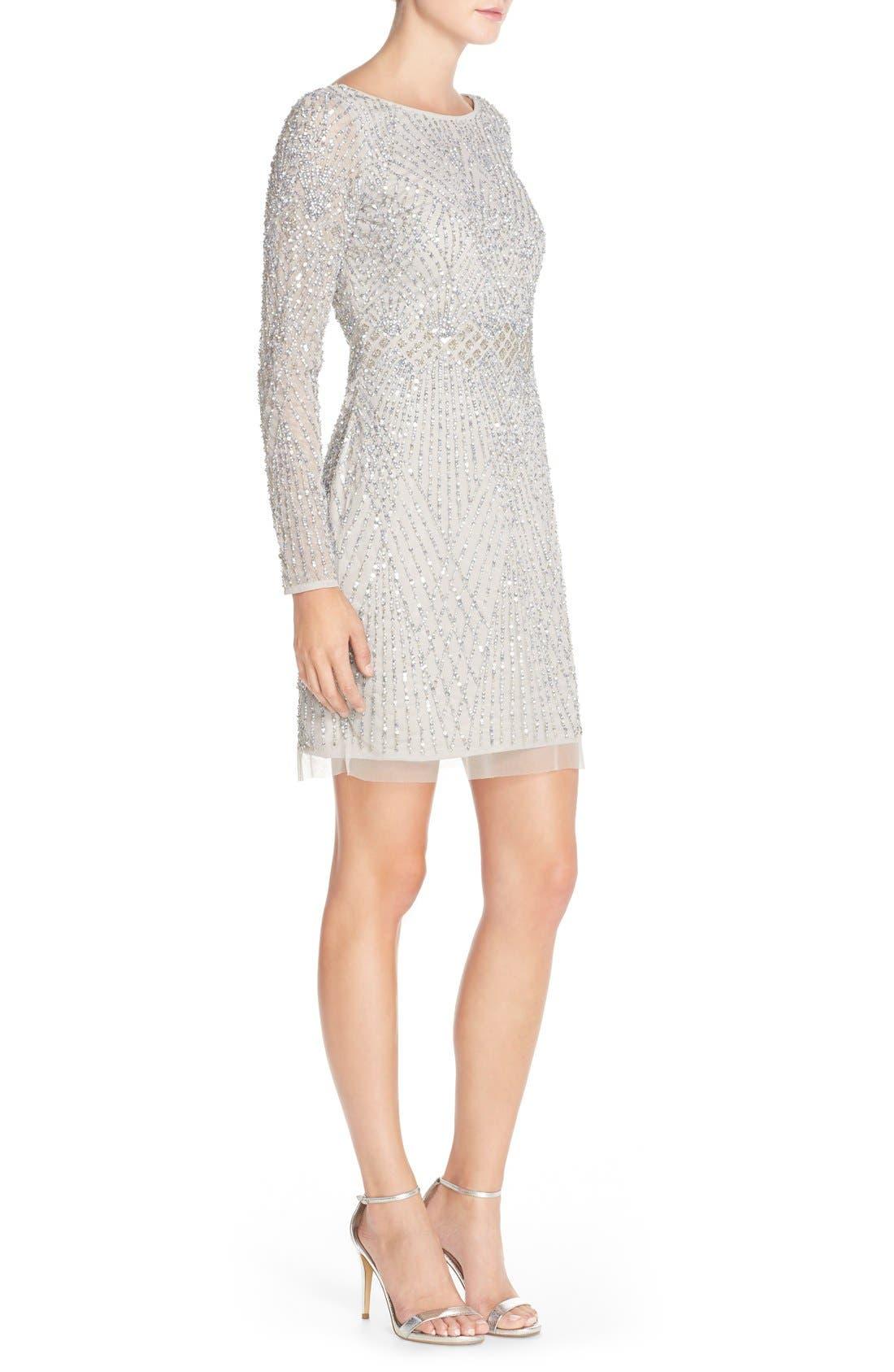 Alternate Image 3  - Aidan Mattox Embellished Mesh Sheath Dress