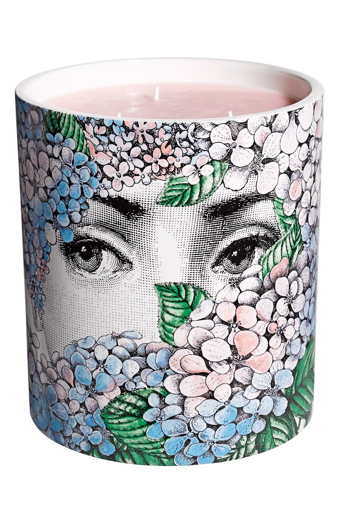 Main Image - Fornasetti 'Ortensia - Flora' Large Candle
