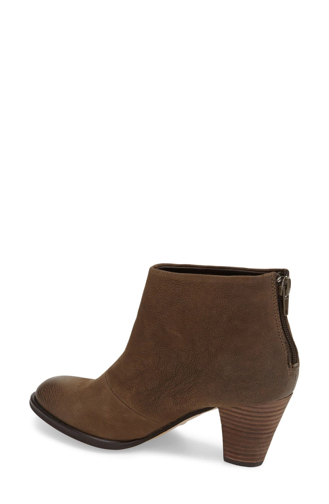 'Devyn' Ankle Bootie,                             Alternate thumbnail 2, color,                             Khaki Leather
