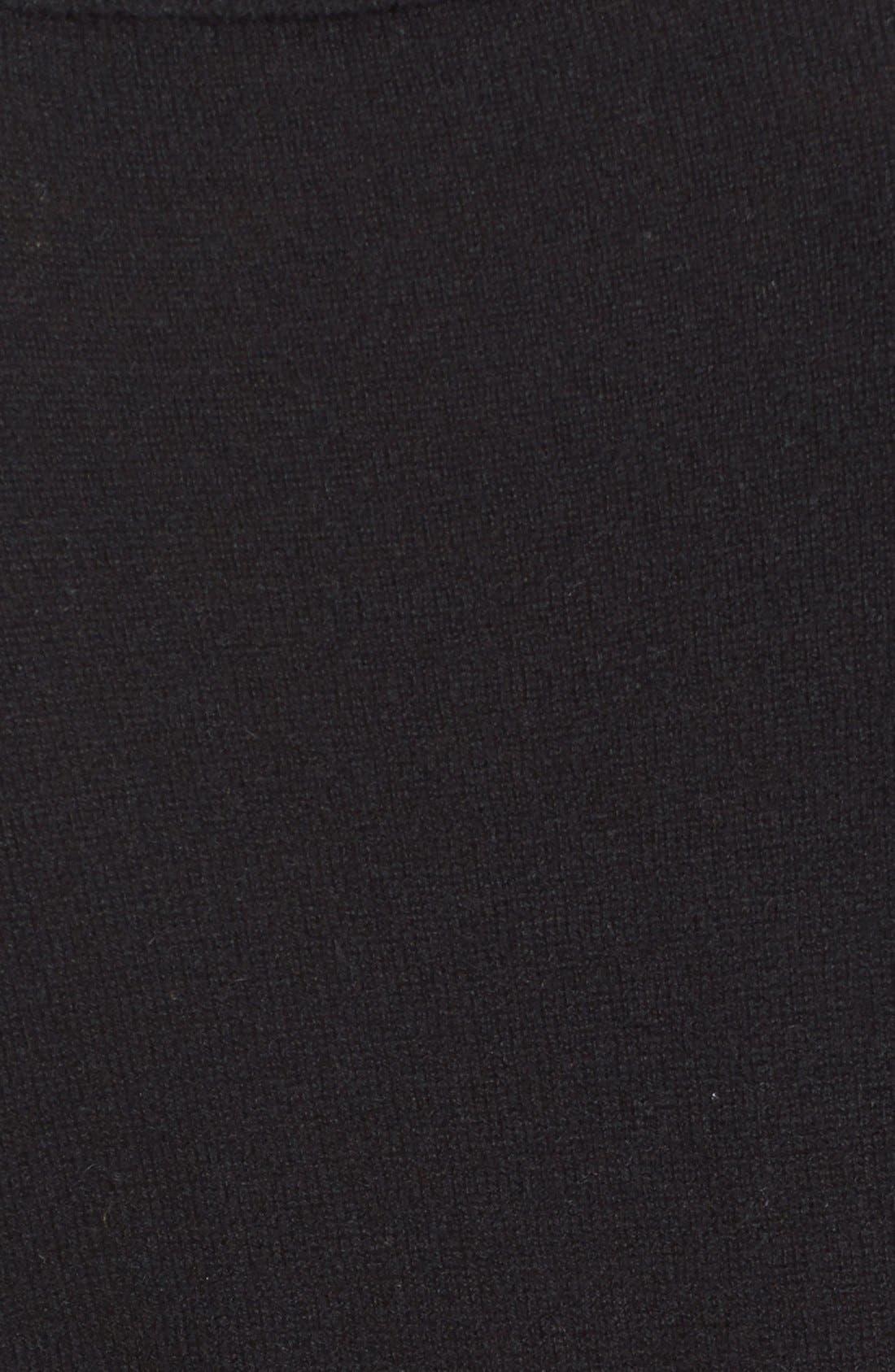 'Oscar' Turtleneck Sweater Dress,                             Alternate thumbnail 5, color,                             Black