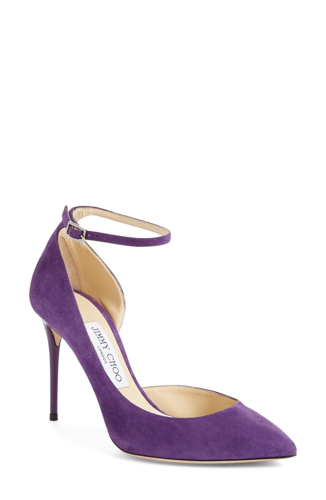 Main Image - Jimmy Choo 'Lucy' Half d'Orsay Pointy Toe Pump (Women)