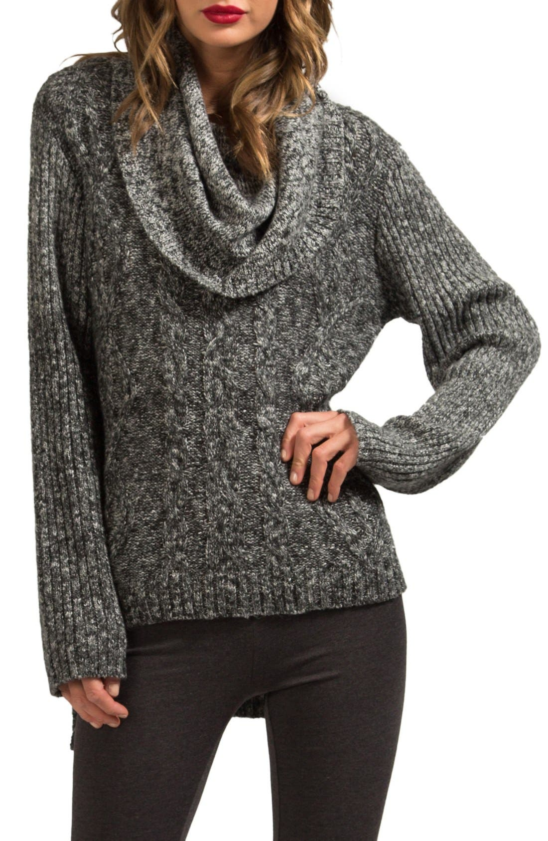 Alternate Image 1 Selected - LAmade Oversize Cowl Neck High/Low Sweater