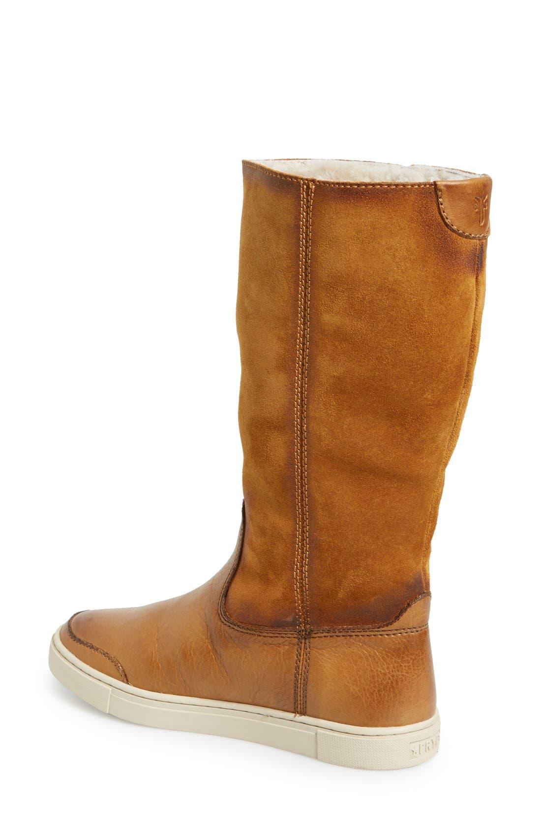 Alternate Image 2  - Frye 'Gemma' Tall Genuine Shearling Lined Boot (Women)