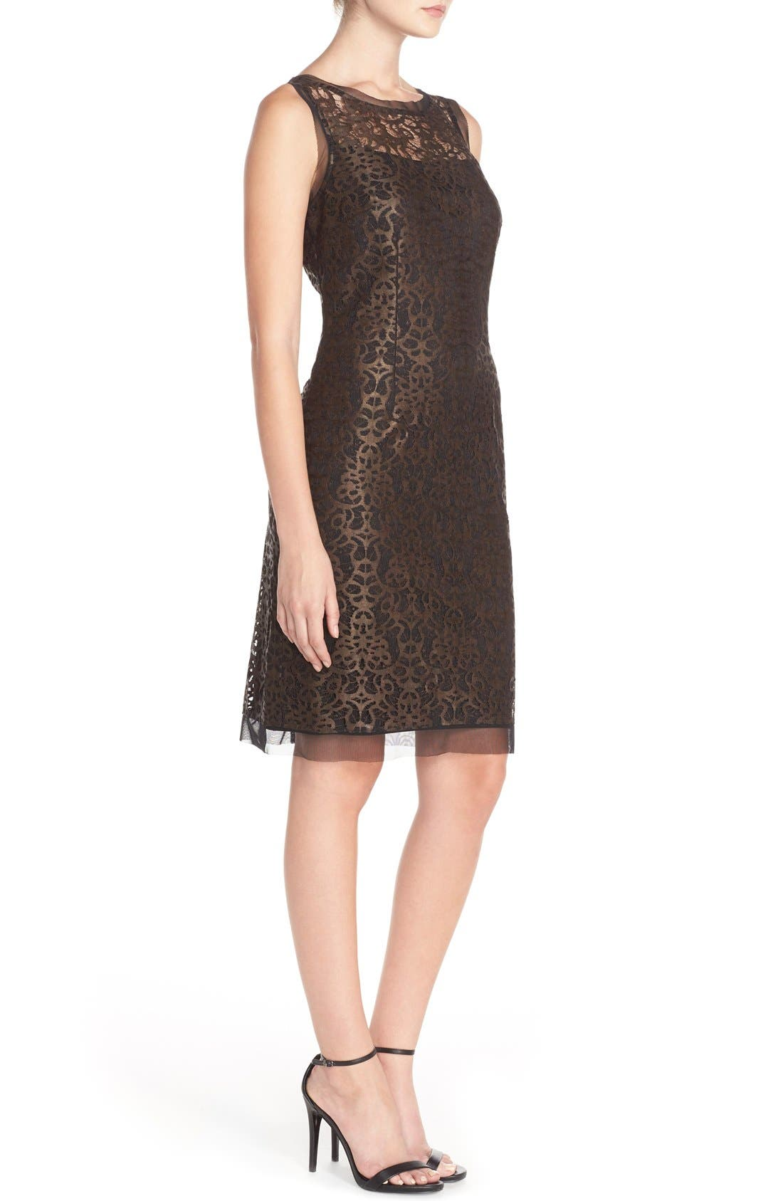 Alternate Image 3  - Julia Jordan Metallic Lace Sheath Dress