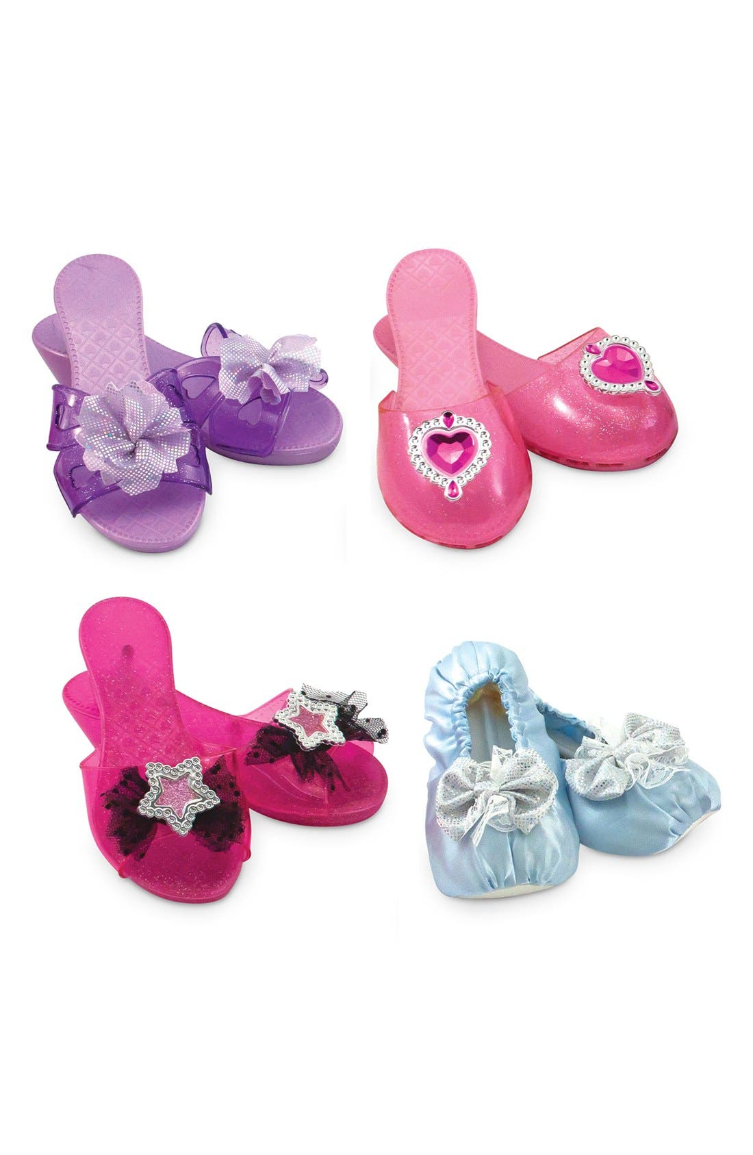 Dress-Up Shoe Set,                             Main thumbnail 1, color,                             Pink