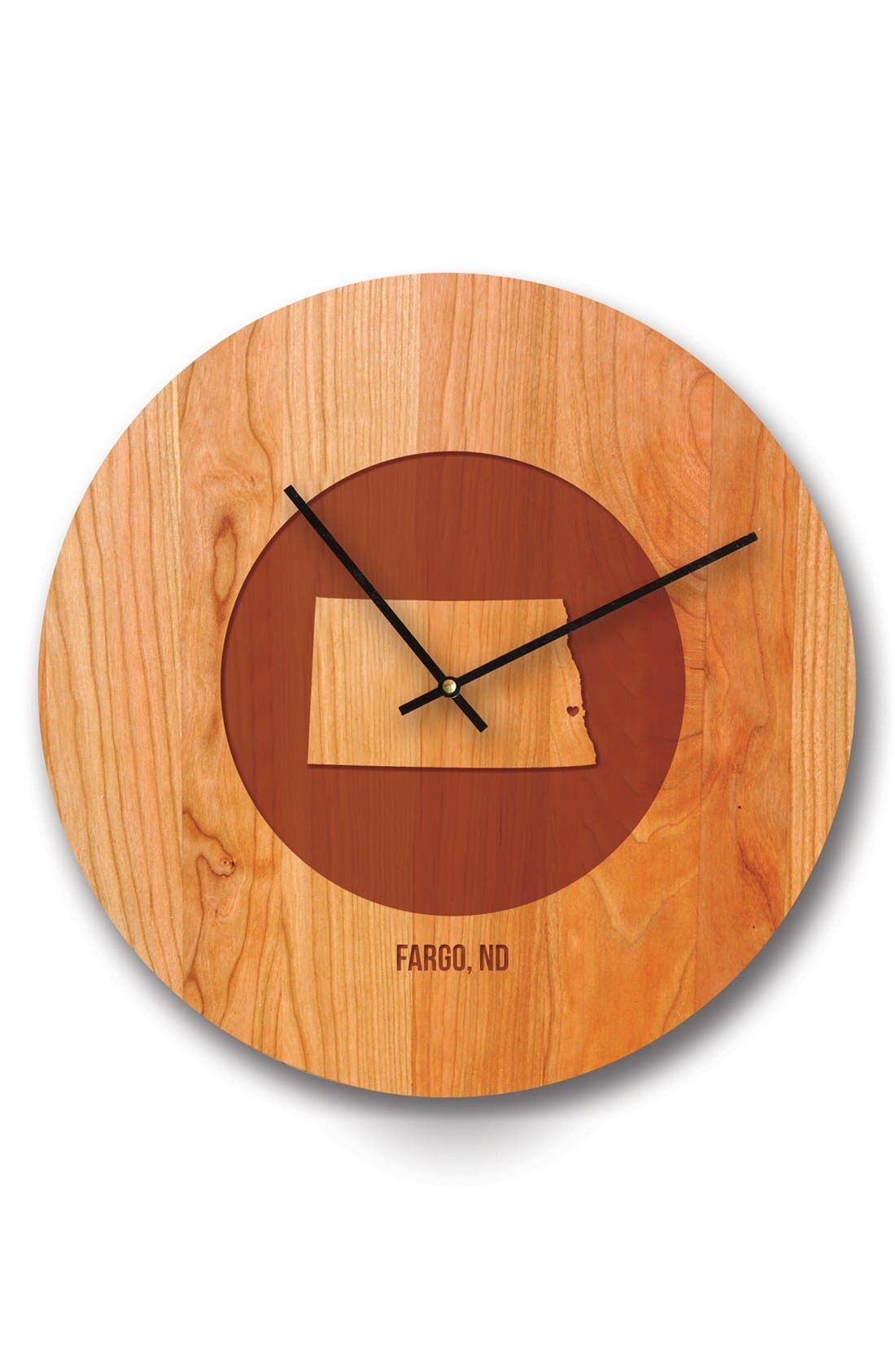 Main Image - Richwood Creations State Silhouette Wooden Wall Clock