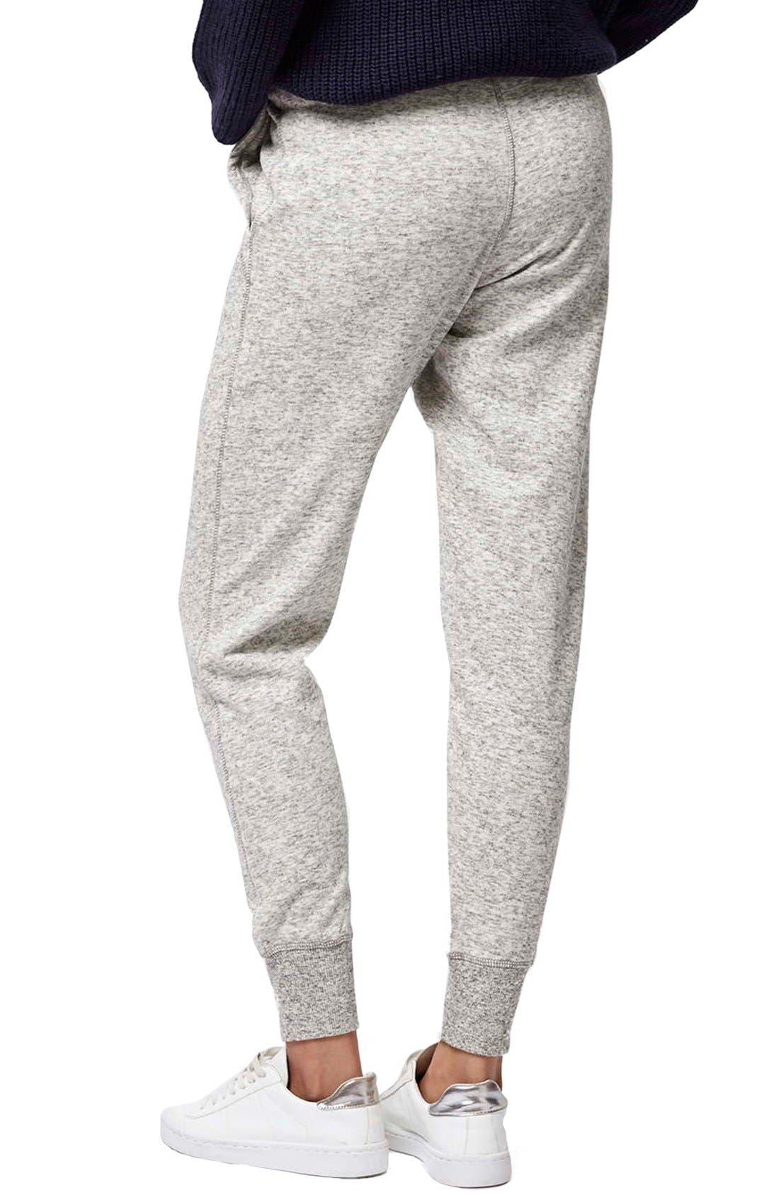 Slim Fit Marled Jogger Pants,                             Alternate thumbnail 3, color,                             Light Grey