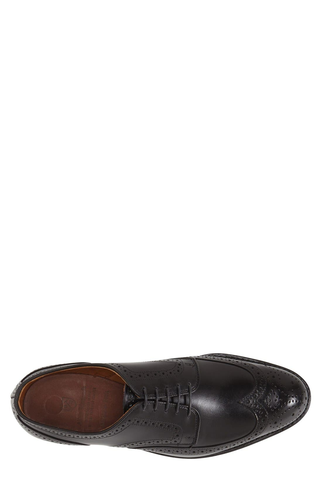'Madison Park' Wingtip,                             Alternate thumbnail 3, color,                             Black Leather