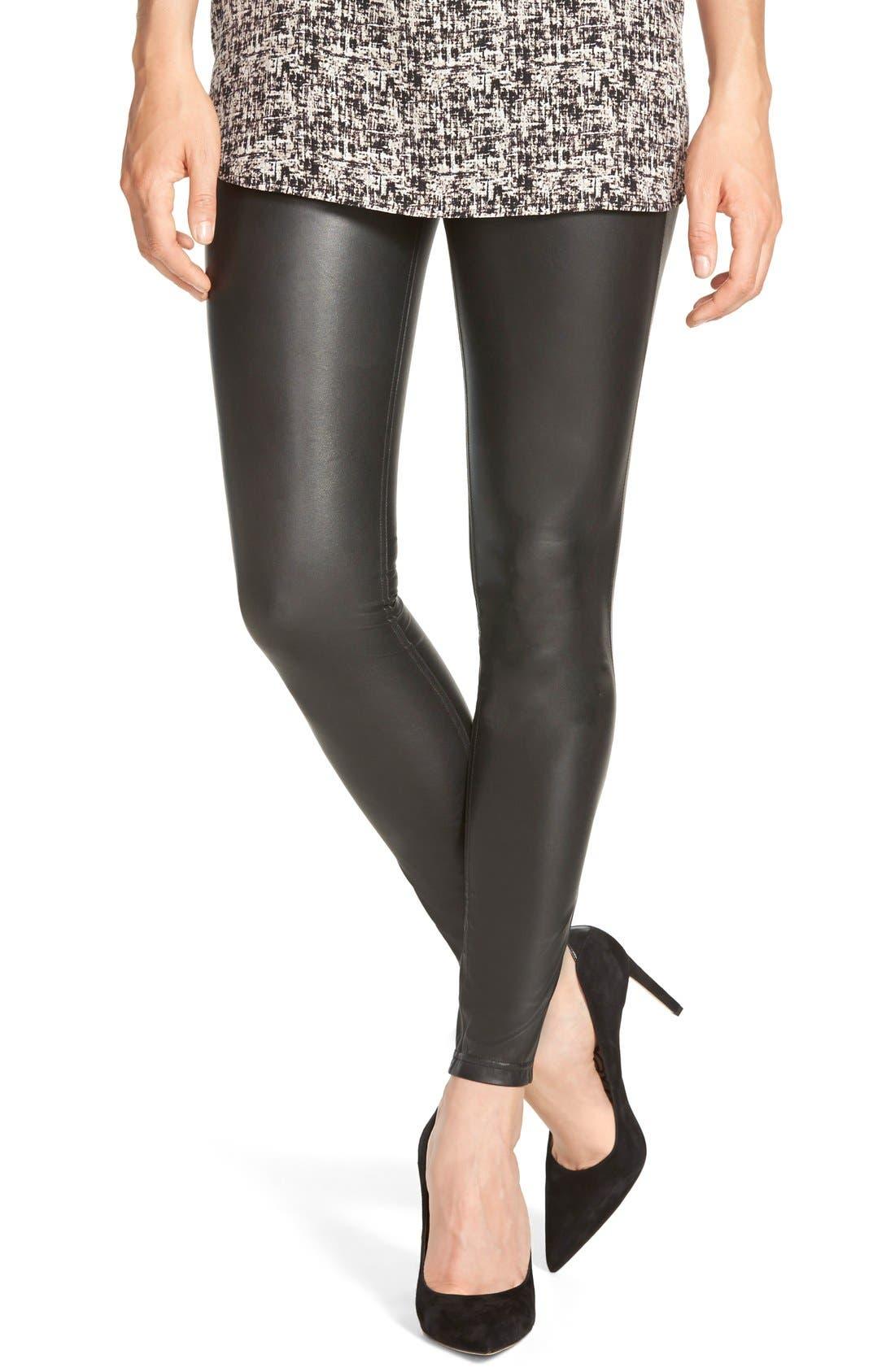 Alternate Image 1 Selected - Hue Faux Leather Leggings