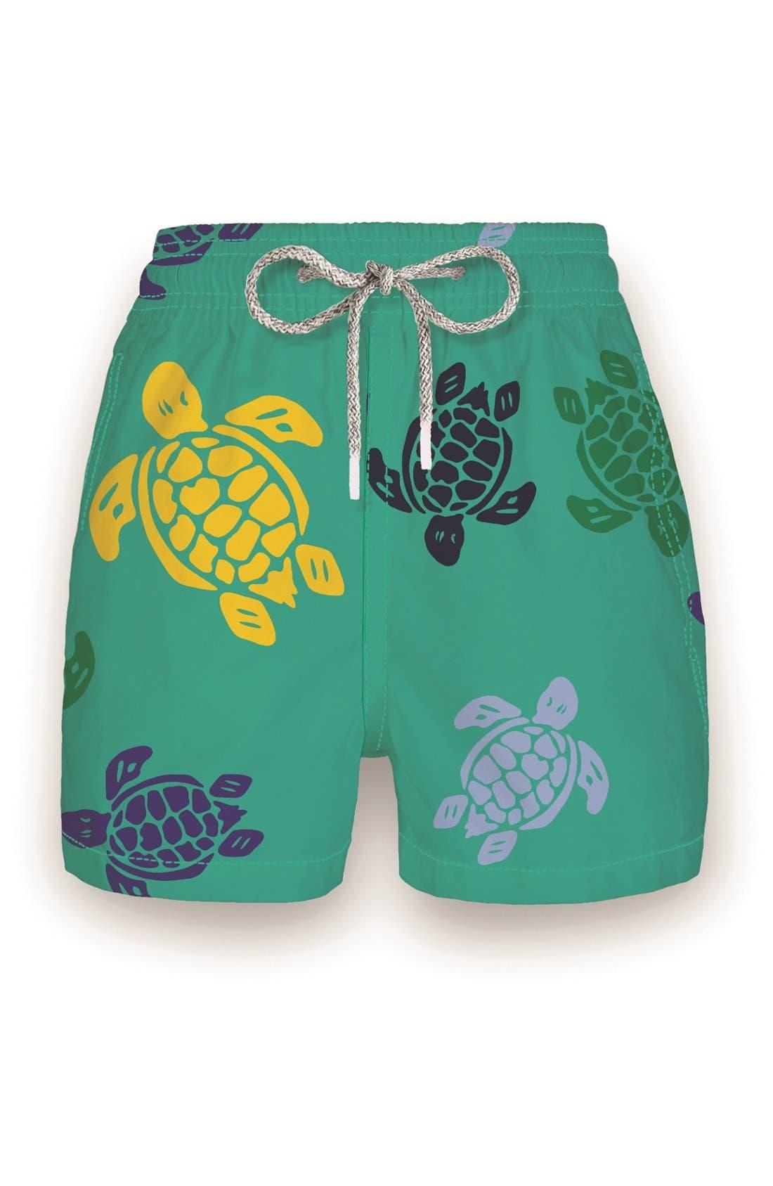Vilebrequin 'Multicolor Turtles' Print Swim Trunks (Toddler Boys, Little Boys & Big Boys)