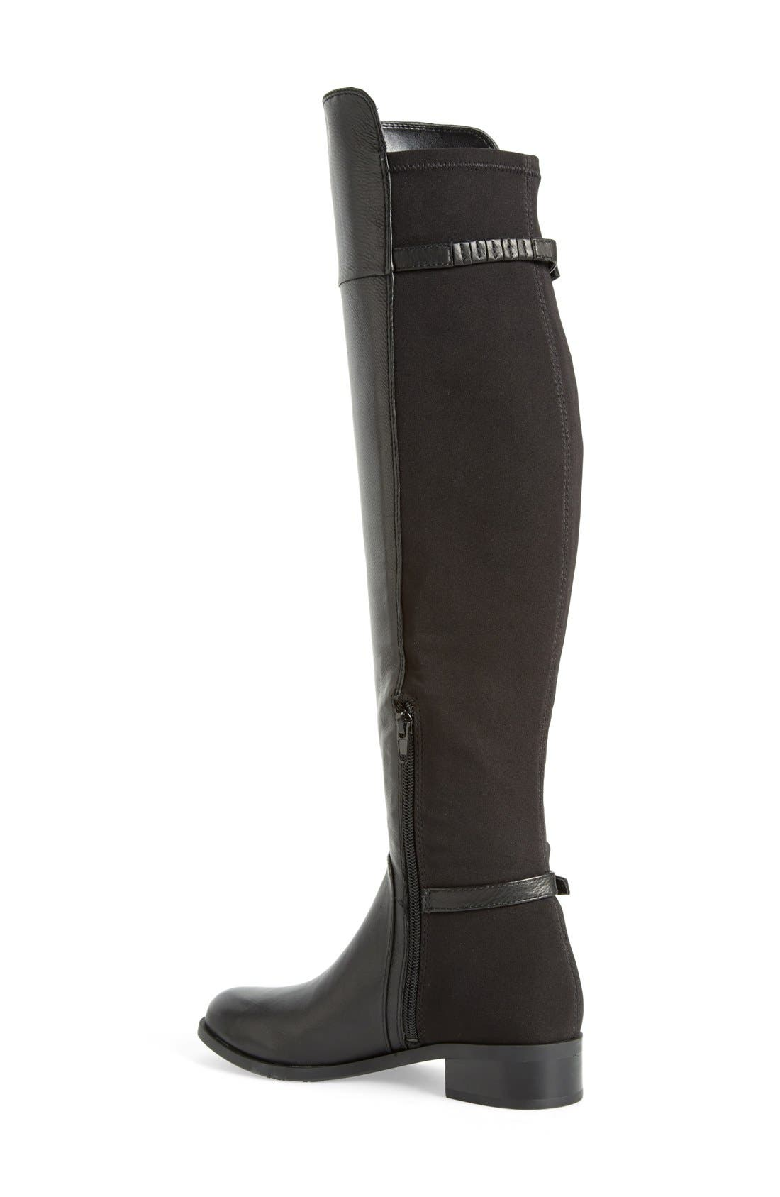 'Oliss' Over The Knee Boot,                             Alternate thumbnail 2, color,                             Black Leather