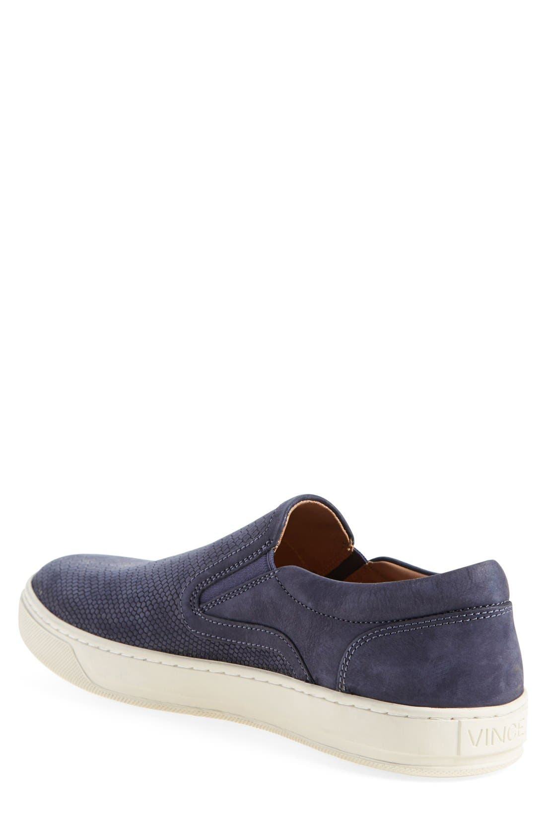 'Ace' Slip-On,                             Alternate thumbnail 2, color,                             Navy Leather