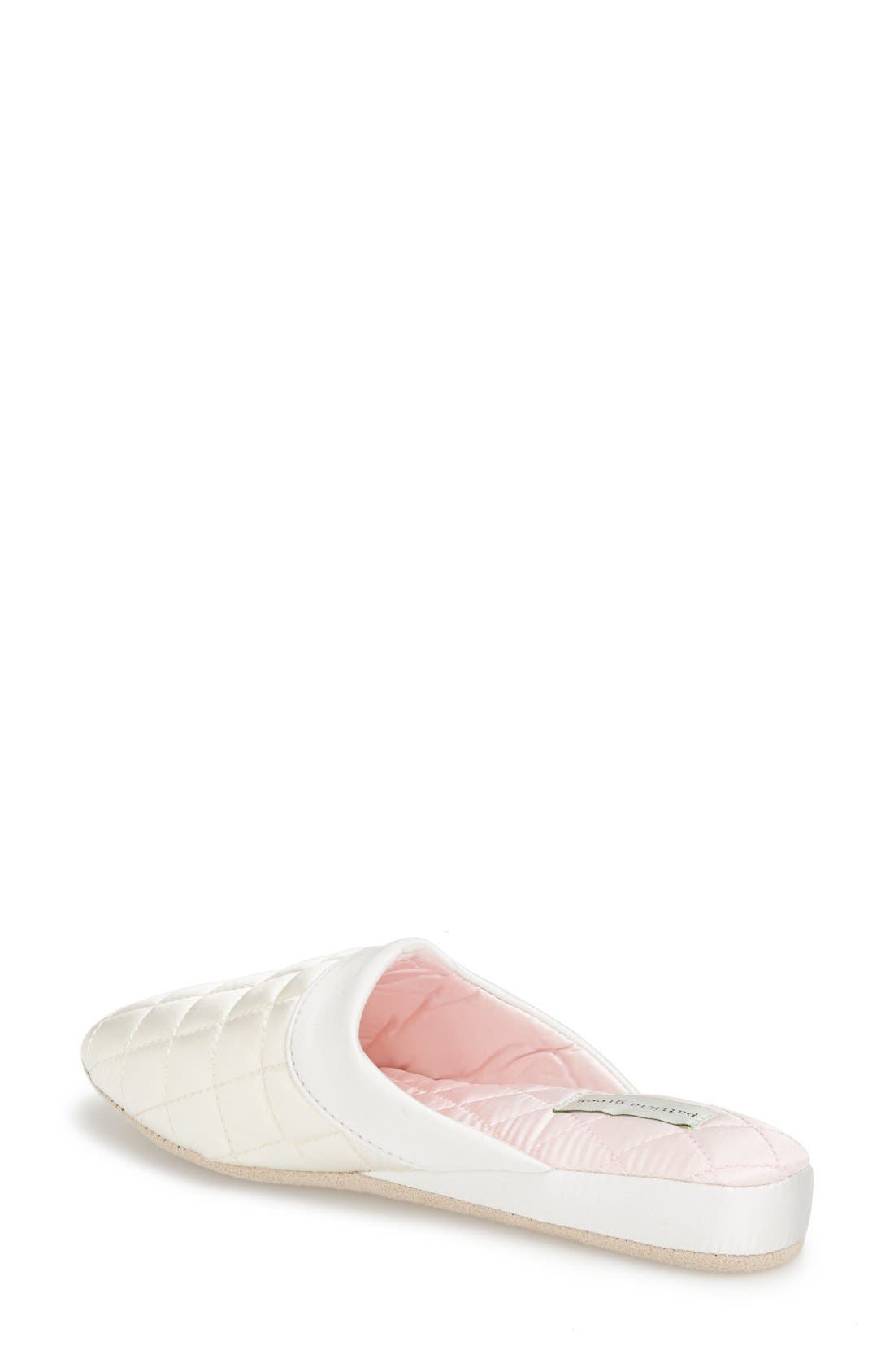 'Jackie' Slipper,                             Alternate thumbnail 2, color,                             Ivory/ Pink