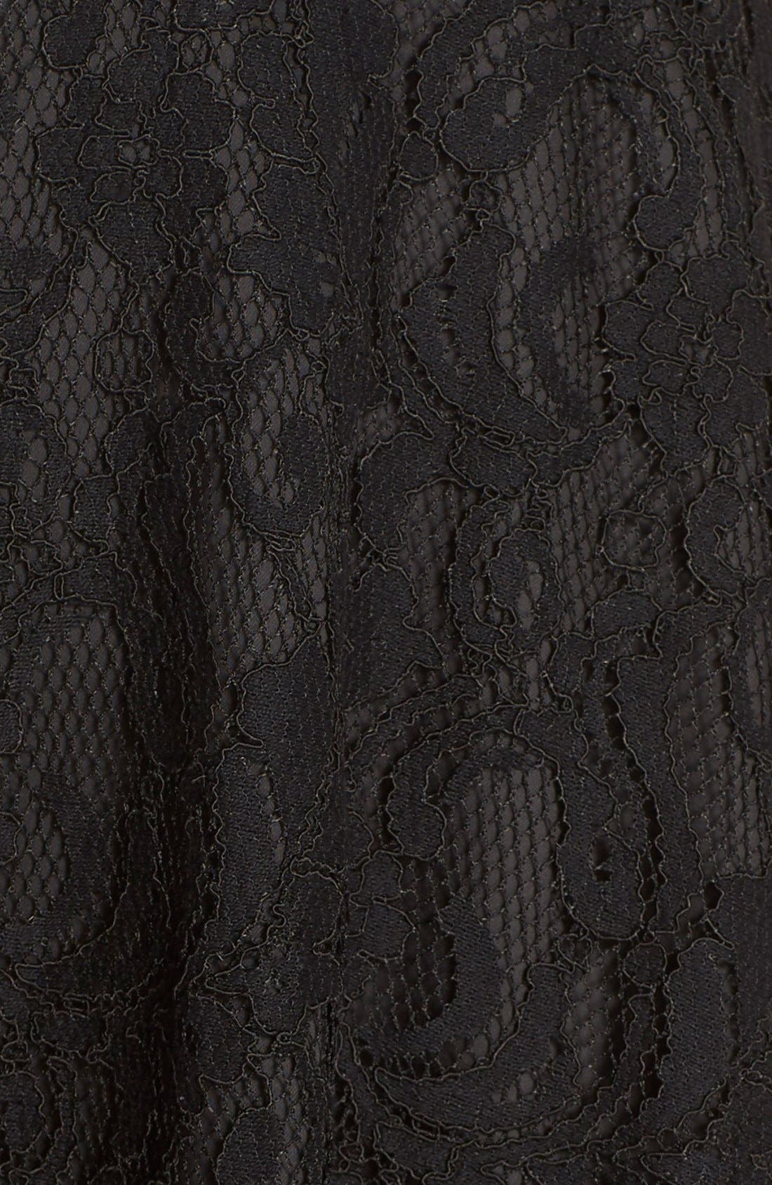 Alternate Image 6  - Adelyn Rae Mock Neck Lace Fit & Flare Dress