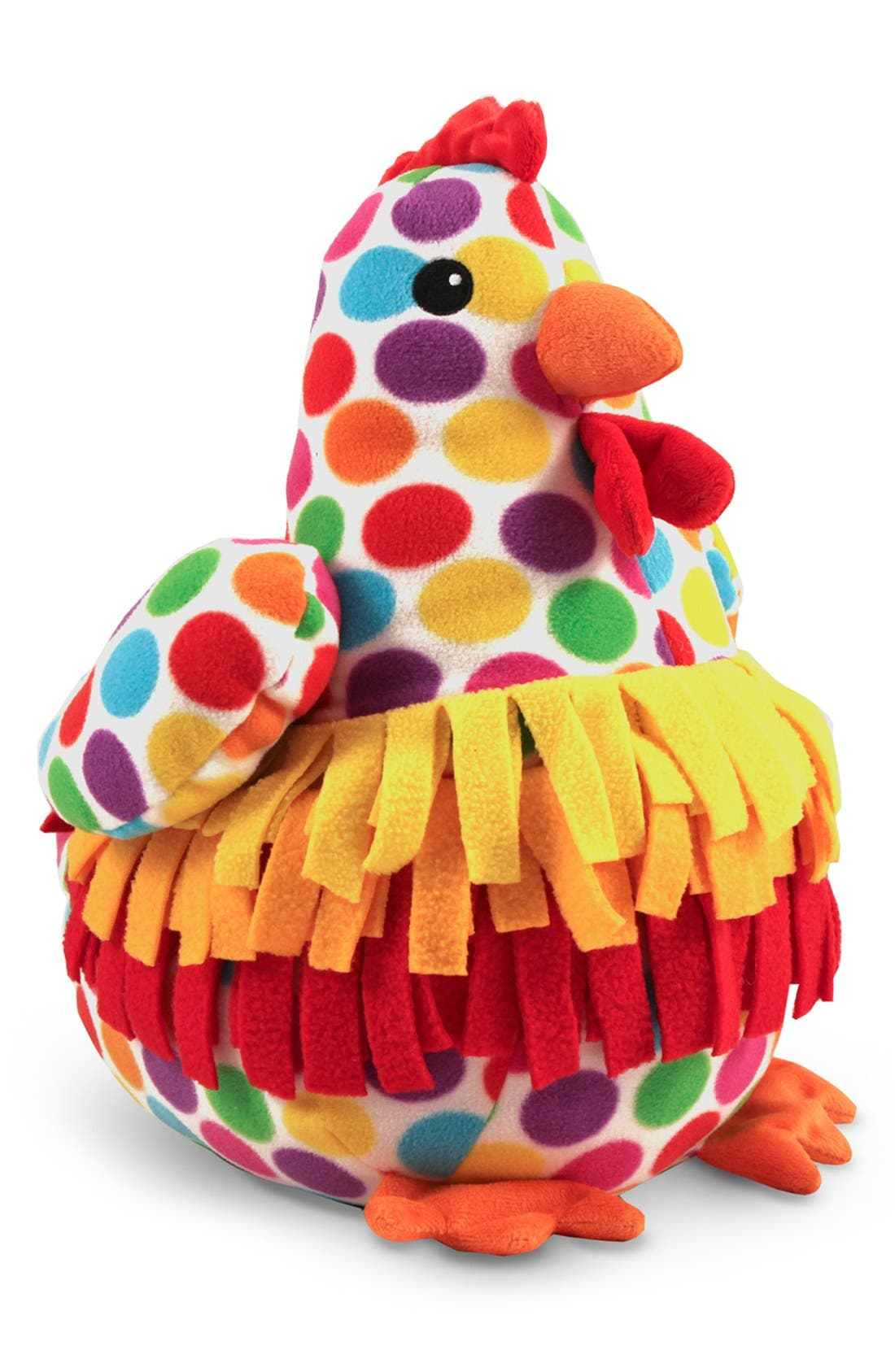 'Beeposh -Dotty Chicken' Plush Toy,                             Main thumbnail 1, color,                             Red