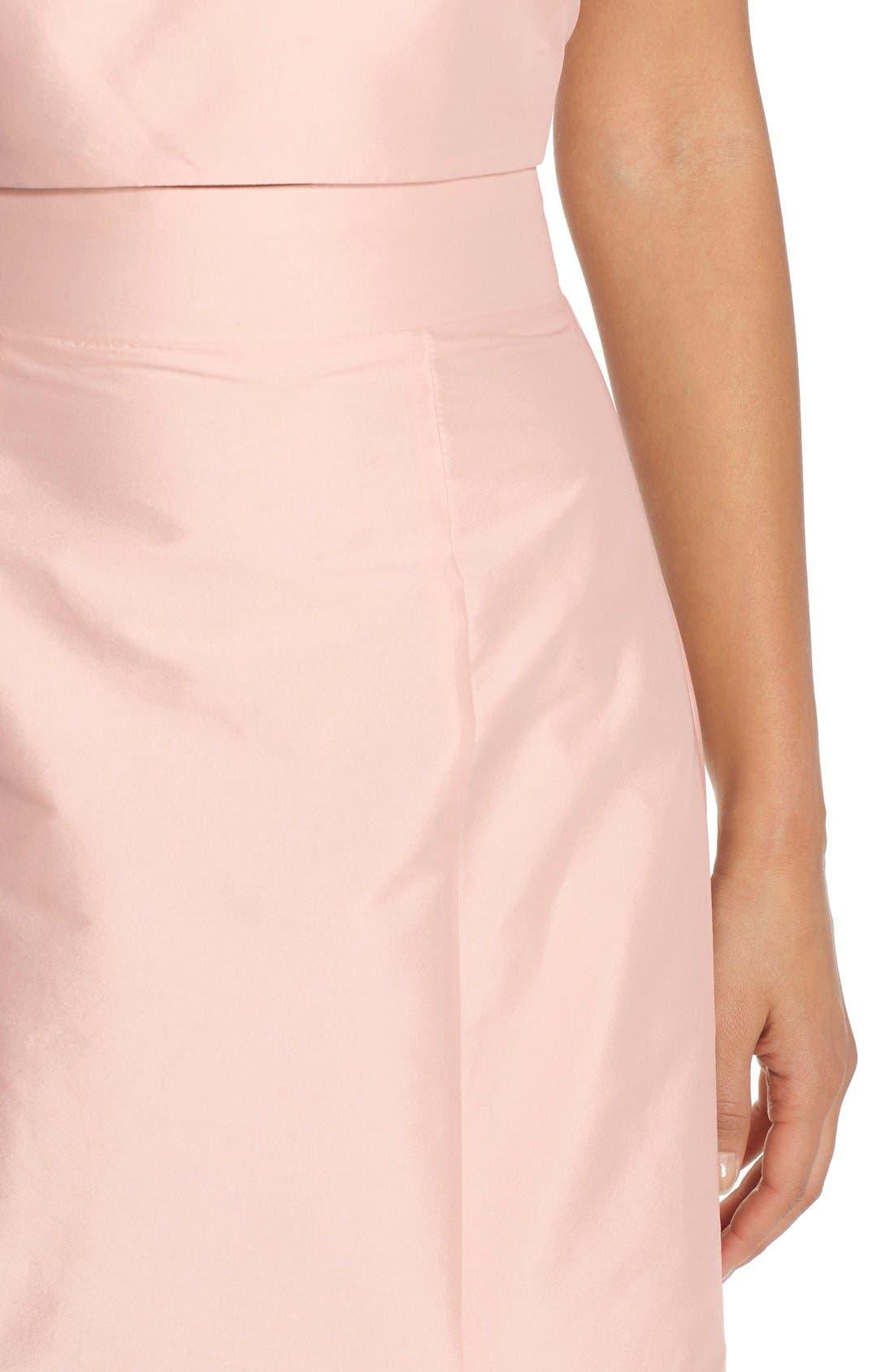 Floor Length Taffeta Mermaid Skirt,                             Alternate thumbnail 5, color,                             Blush