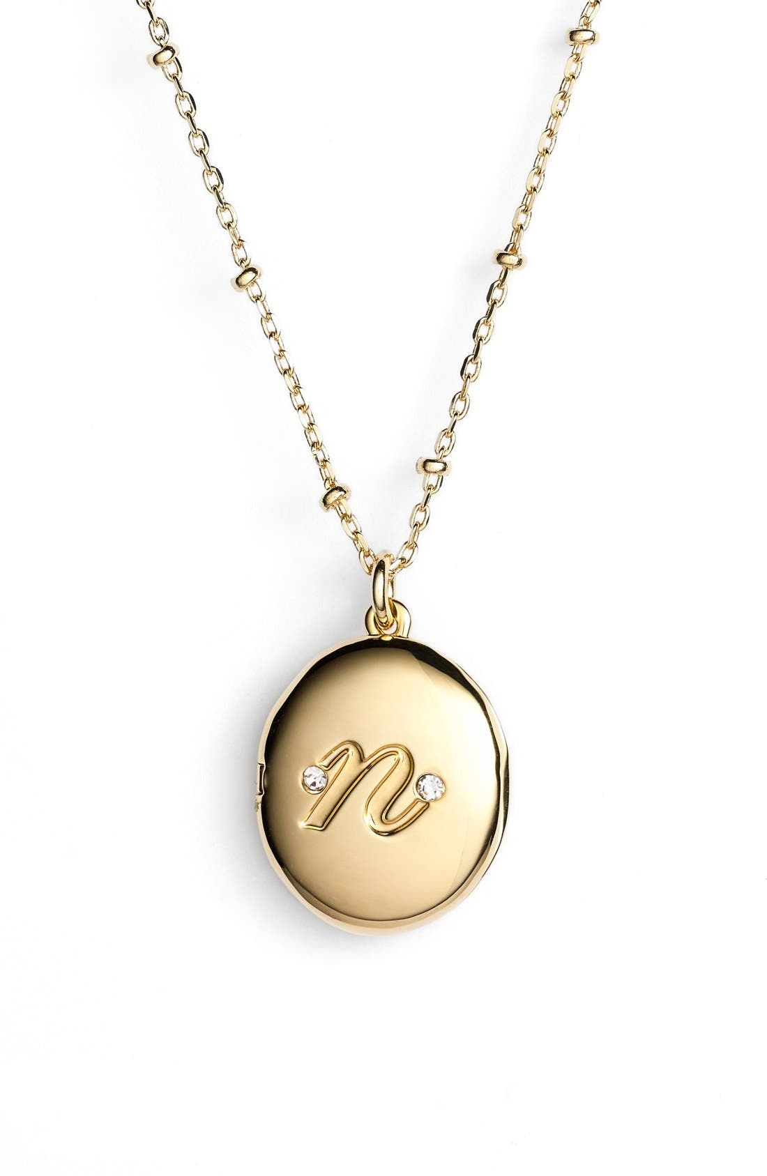Alternate Image 1 Selected - kate spade new york initial locket pendant necklace
