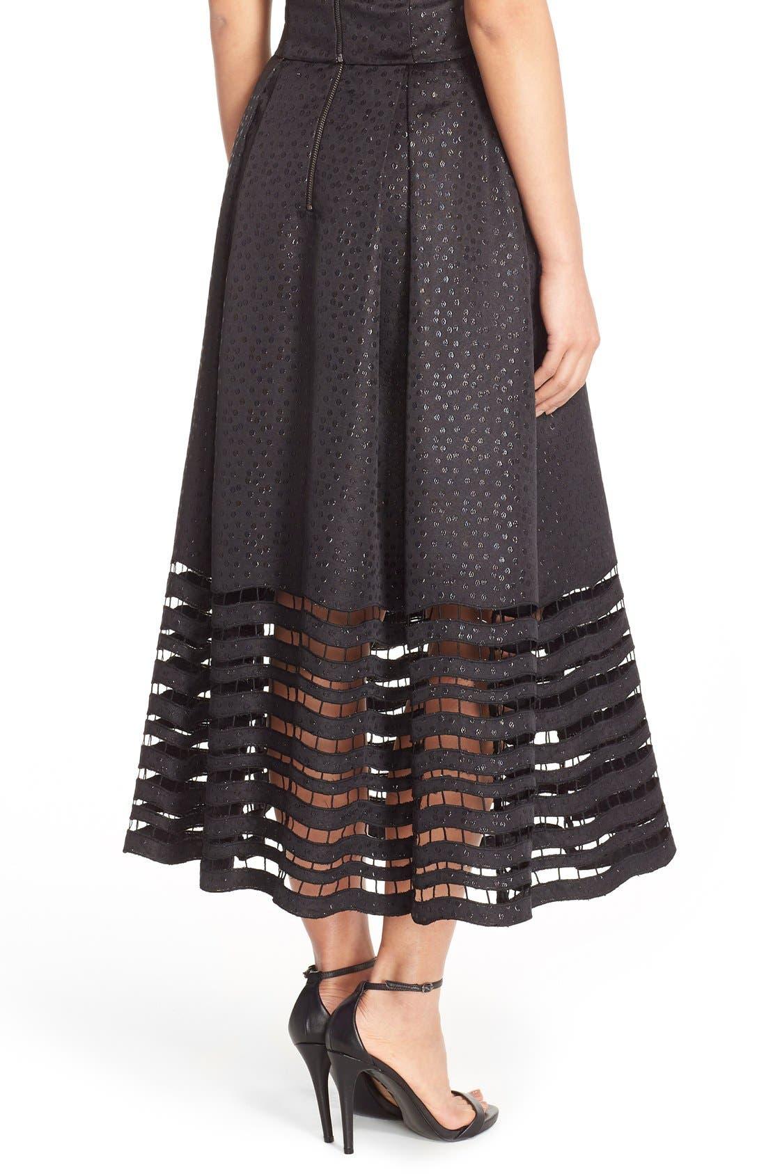 Alternate Image 2  - Sachin & Babi Noir 'Dutch' Eyelet Metallic Jacquard Ball Skirt
