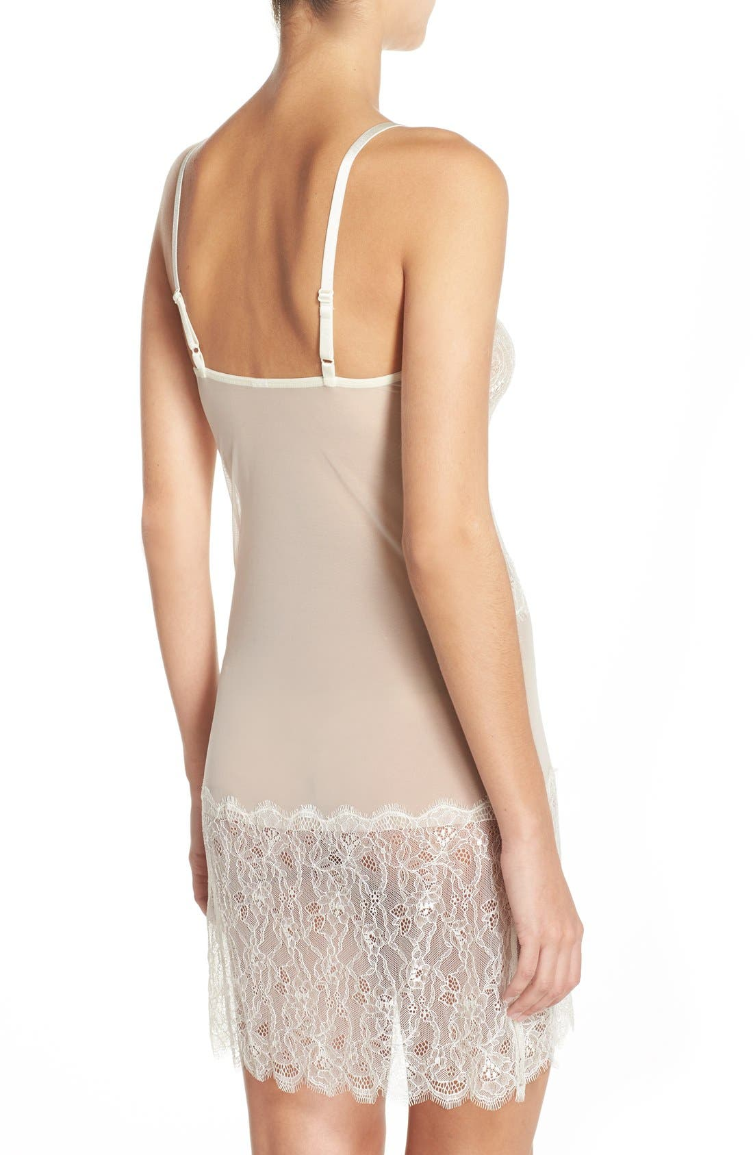 'b.sultry' Chemise,                             Alternate thumbnail 2, color,                             Vanilla Ice