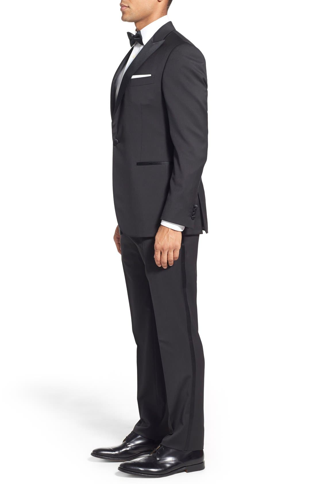 Alternate Image 3  - Pal Zileri Classic Fit Wool Tuxedo