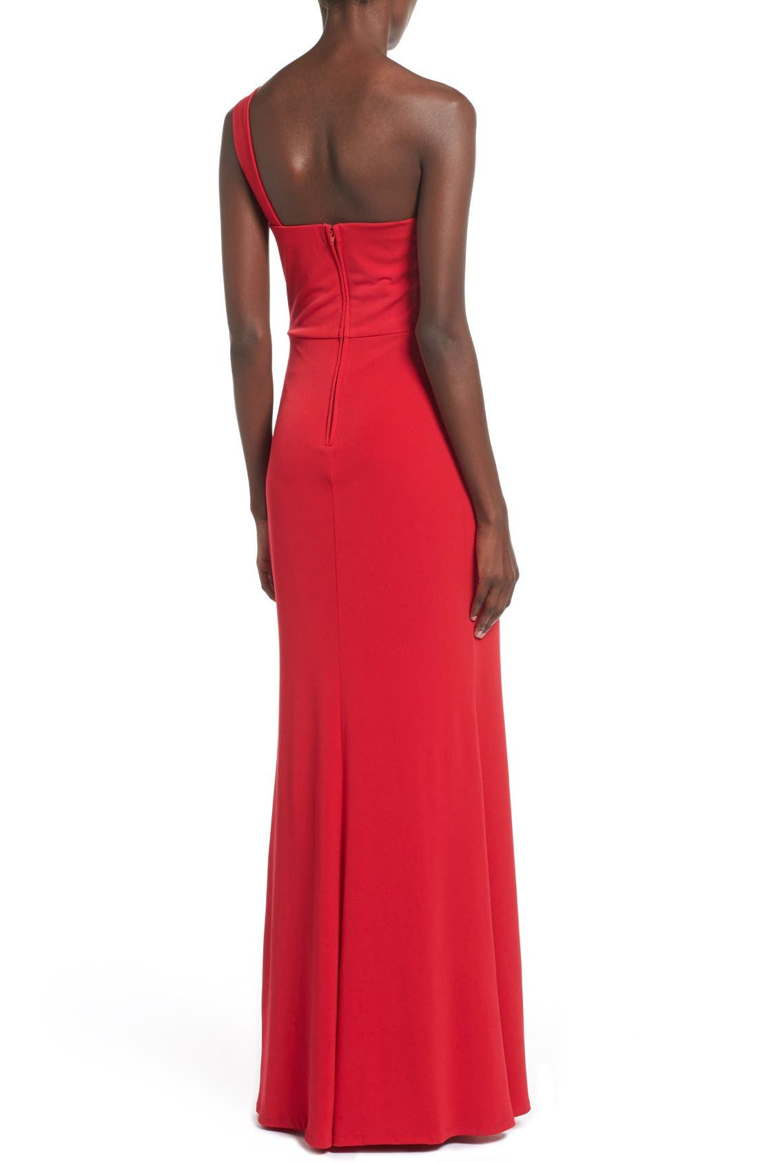 Alternate Image 2  - Way-In 'Kelly' One-Shoulder Gown