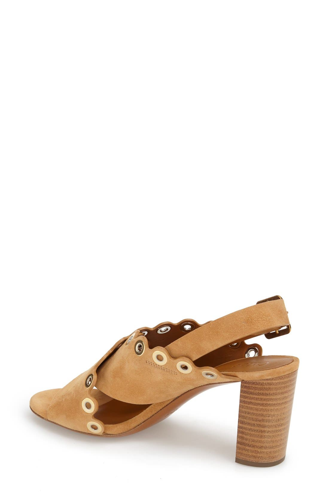 'Flo' Sandal,                             Alternate thumbnail 2, color,                             Beige Suede