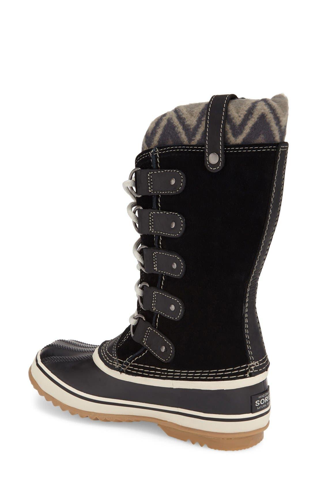 'Joan of Arctic - Knit II' Waterproof Boot,                             Alternate thumbnail 2, color,                             Black