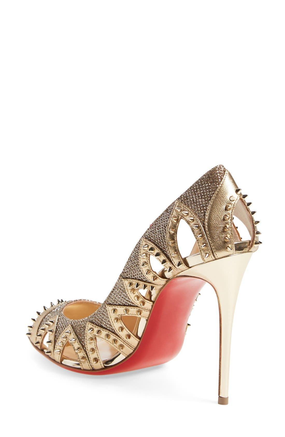 Alternate Image 2  - Christian Louboutin 'Pinder City' Peep Toe Pump
