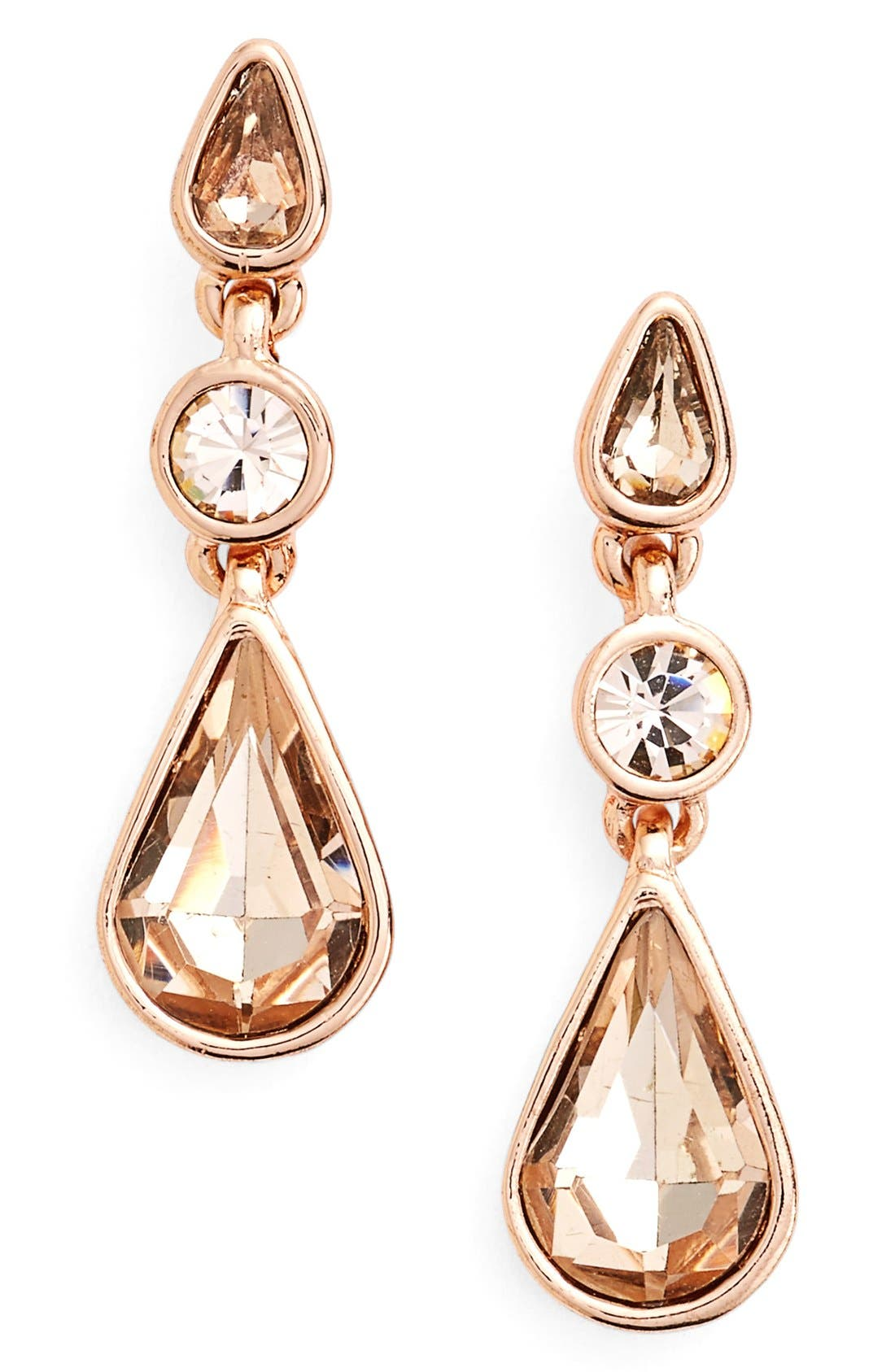 Alternate Image 1 Selected - Givenchy Triple Drop Crystal Earrings