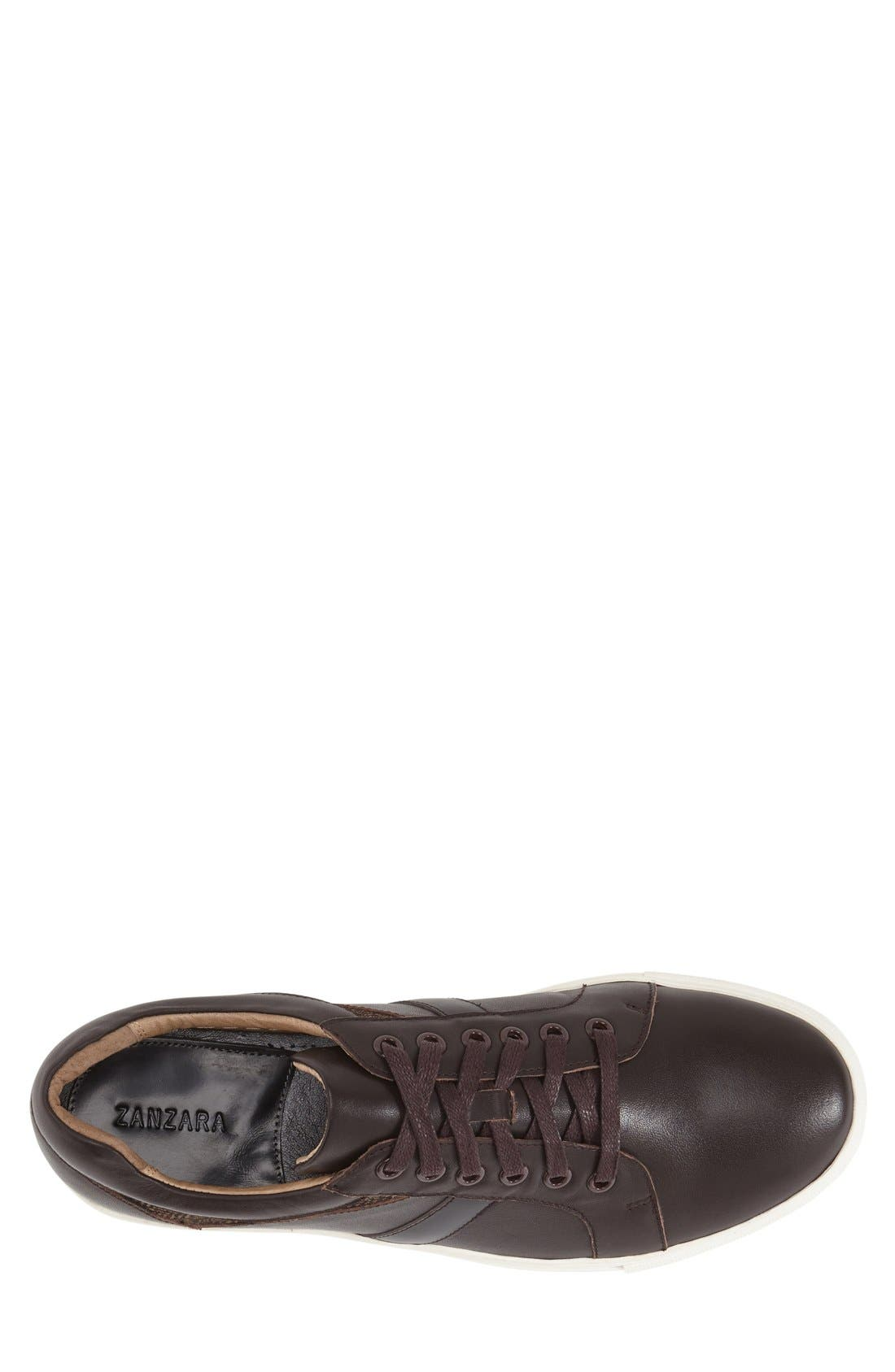 'Mixer' Sneaker,                             Alternate thumbnail 3, color,                             Brown Leather