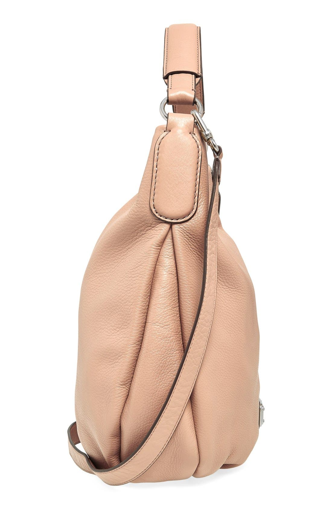 MARC BY MARC JACOBS 'New Q Hillier' Hobo,                             Alternate thumbnail 3, color,                             Cameo Nude