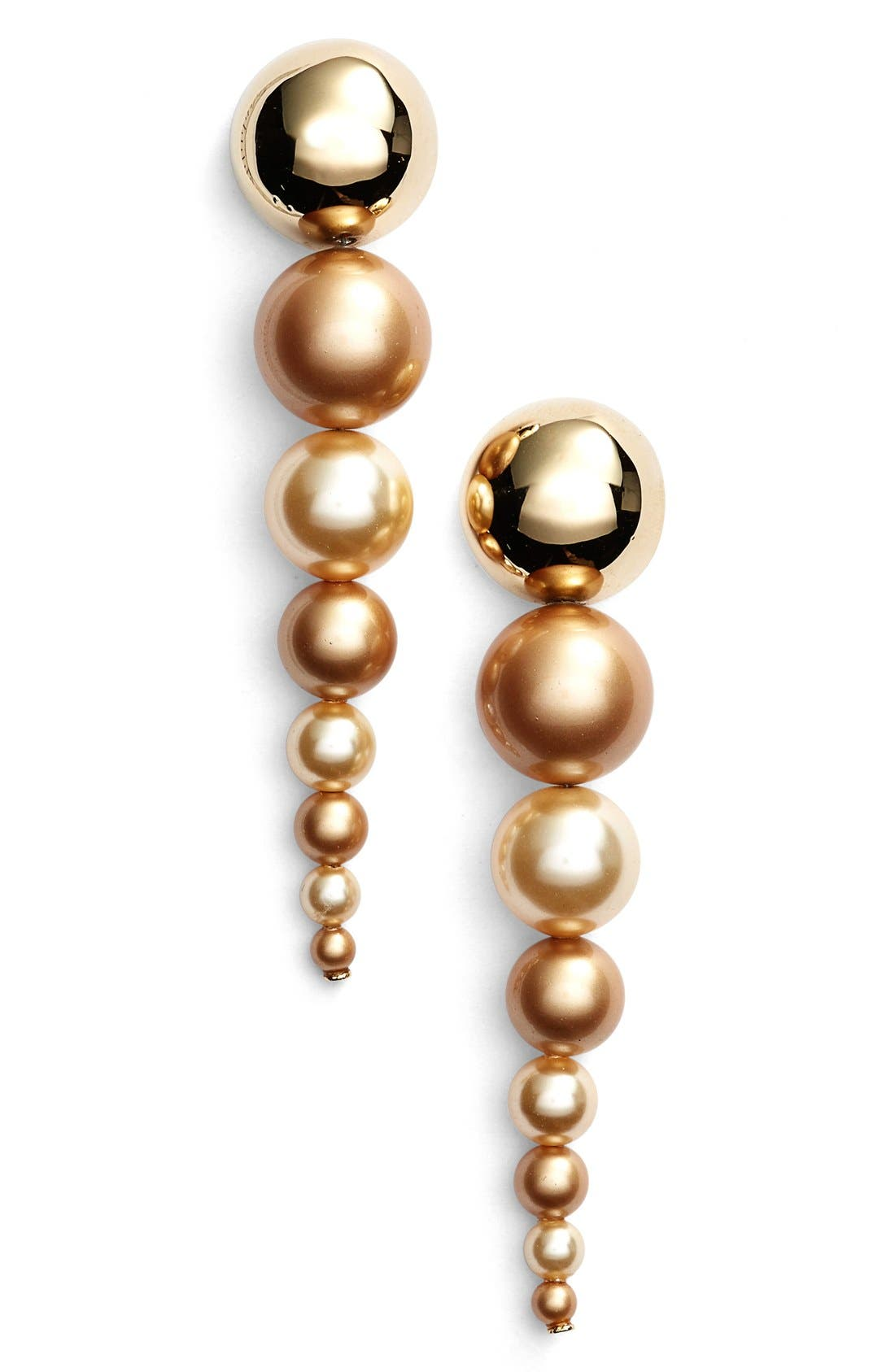 Alternate Image 1 Selected - St. John Collection Two-Tone Glass Pearl Drop Earrings