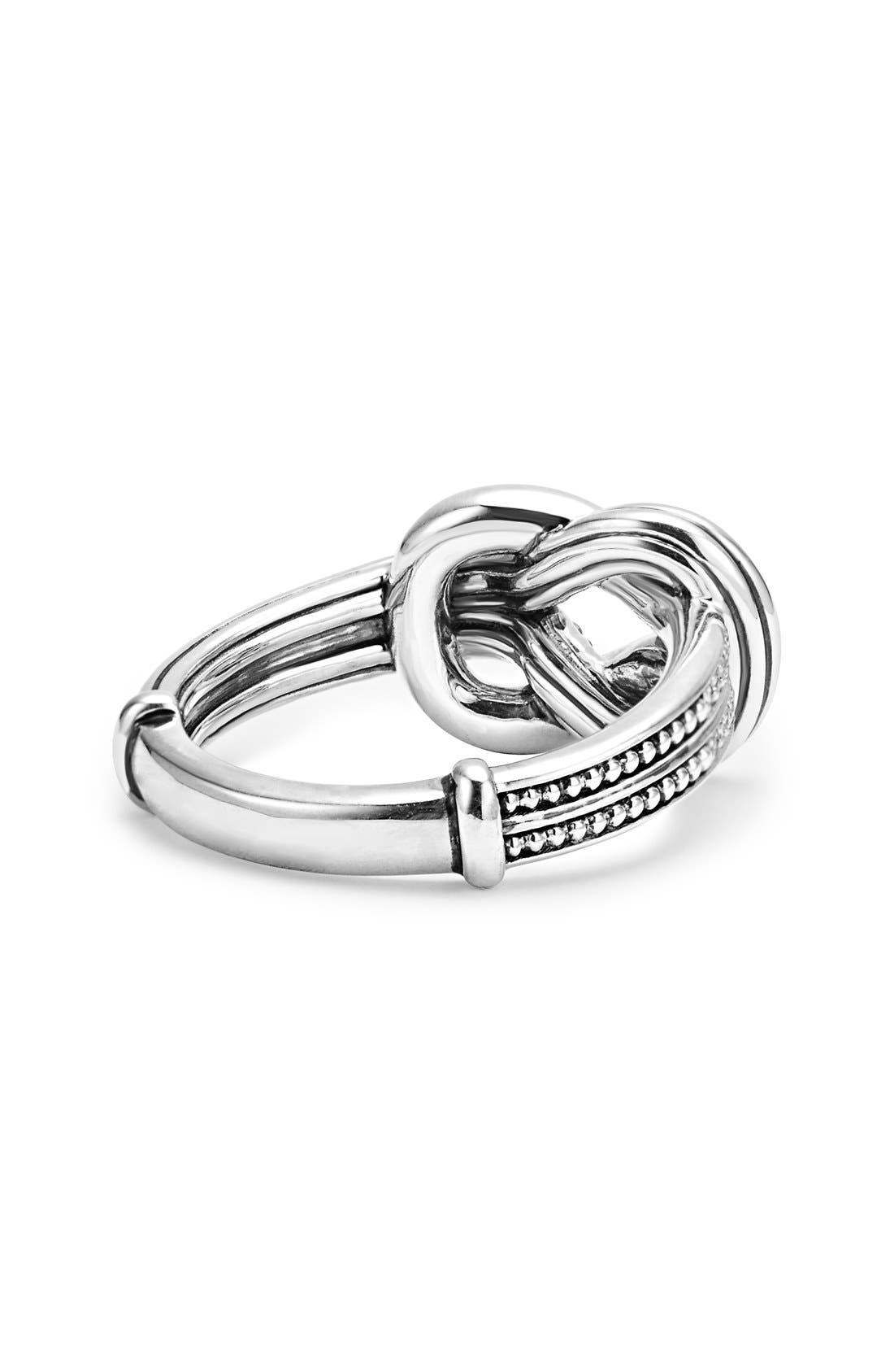 'Newport' Diamond Knot Ring,                             Alternate thumbnail 2, color,                             Silver/ Gold