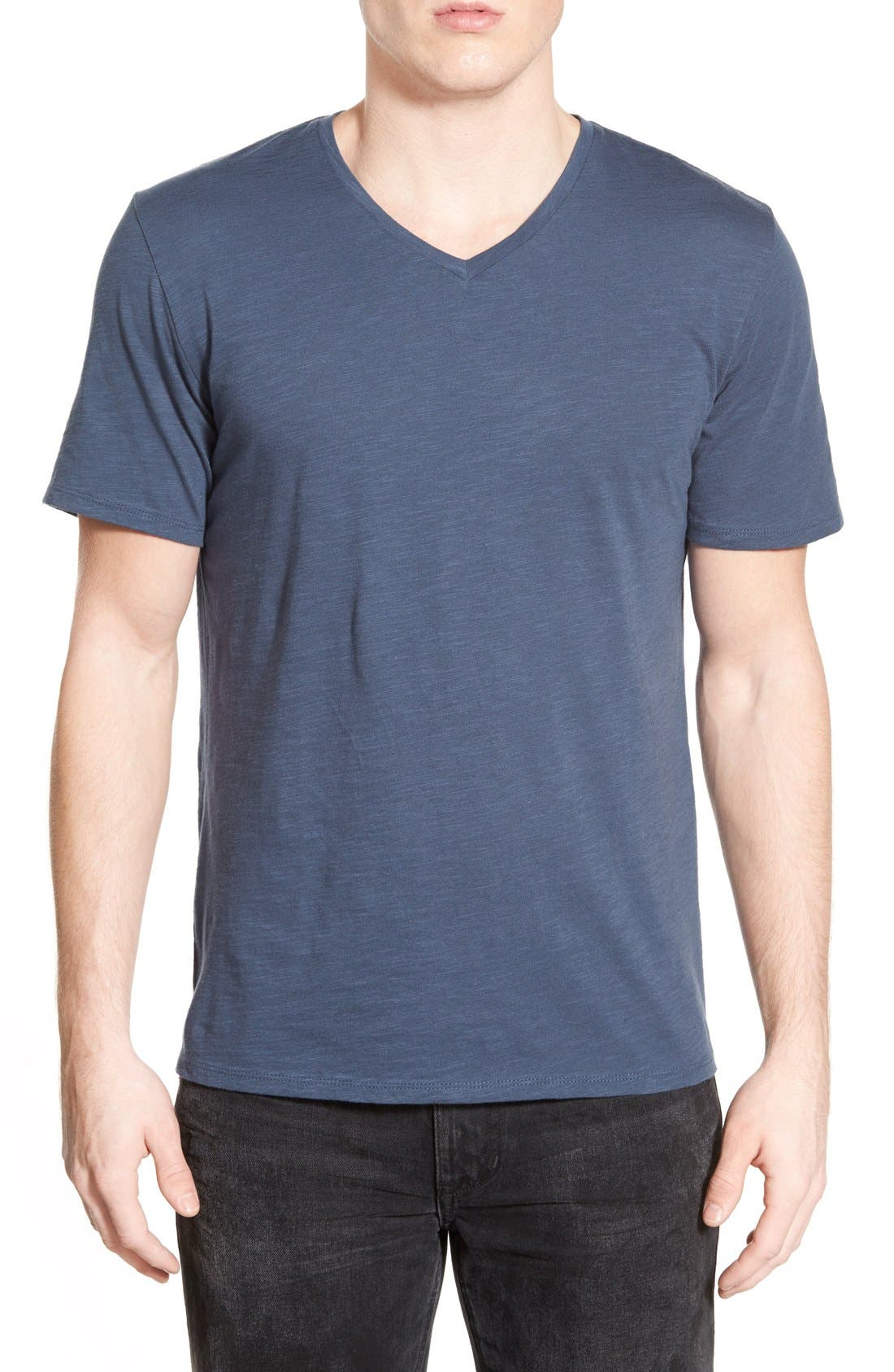 Main Image - The Rail Slub Cotton V-Neck T-Shirt