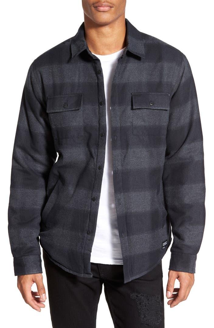 Ezekiel Quilt Lined Plaid Flannel Shirt Jacket Nordstrom