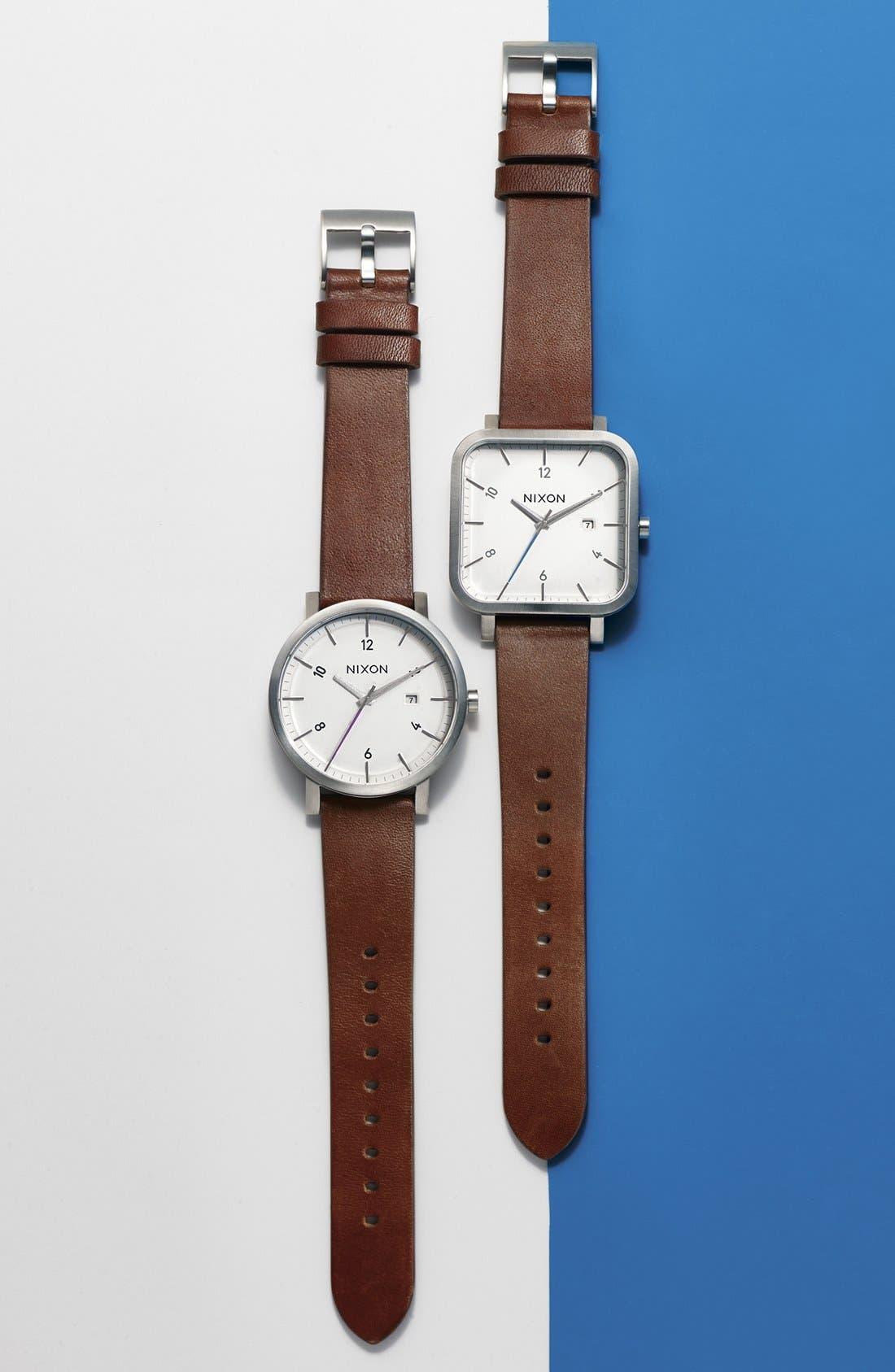 Alternate Image 4  - Nixon 'Ragnar' Leather Strap Watch, 40mm