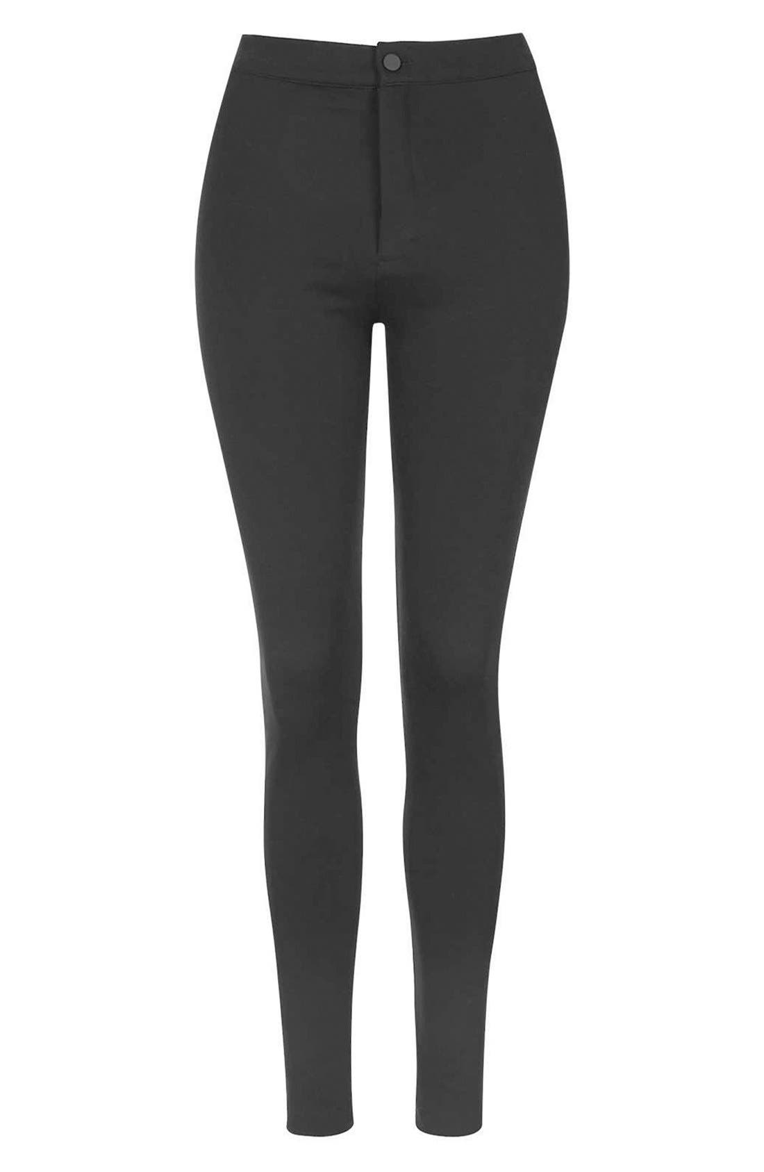 Alternate Image 4  - Topshop Seamed Ponte Trouser Leggings