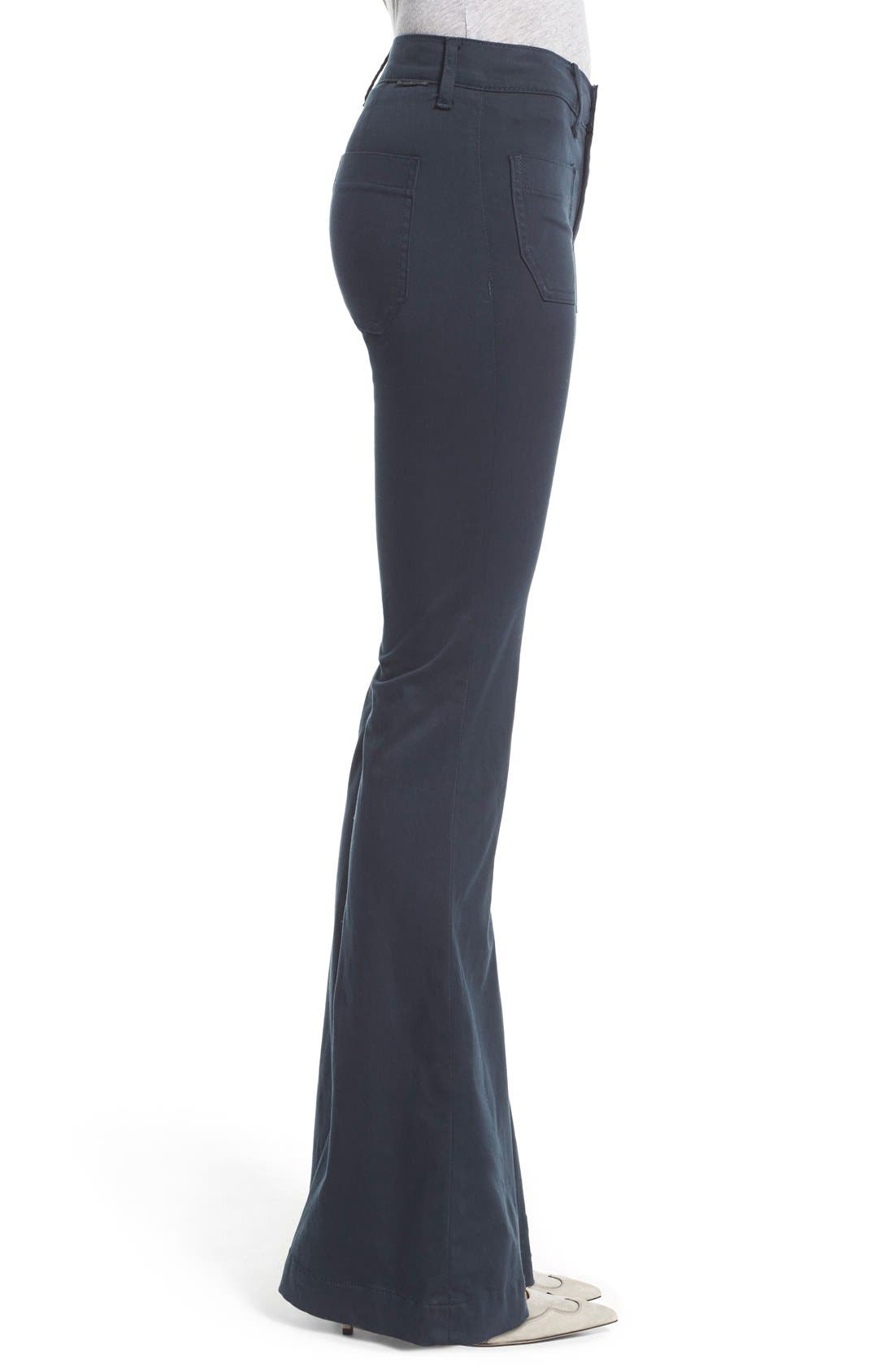 'Taylor' Flare Jeans,                             Alternate thumbnail 3, color,                             Midnight