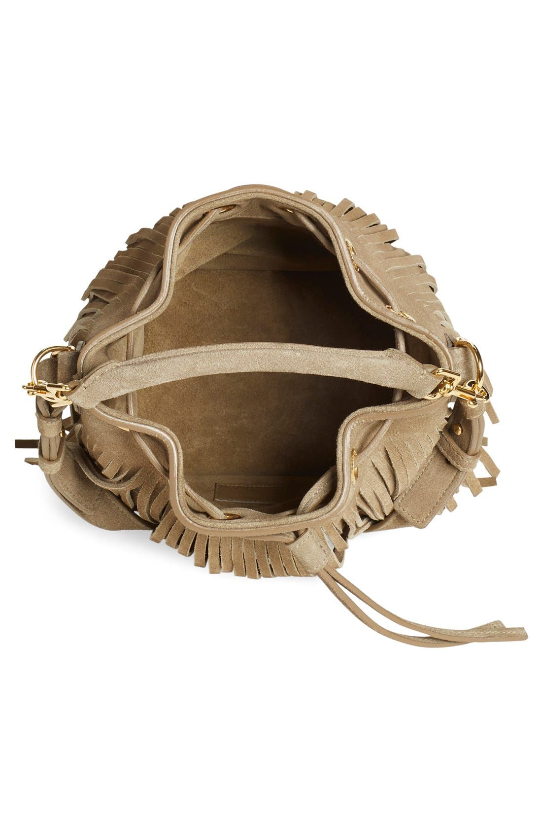 Alternate Image 4  - Saint Laurent 'Emmanuelle' Suede Fringe Bucket Bag