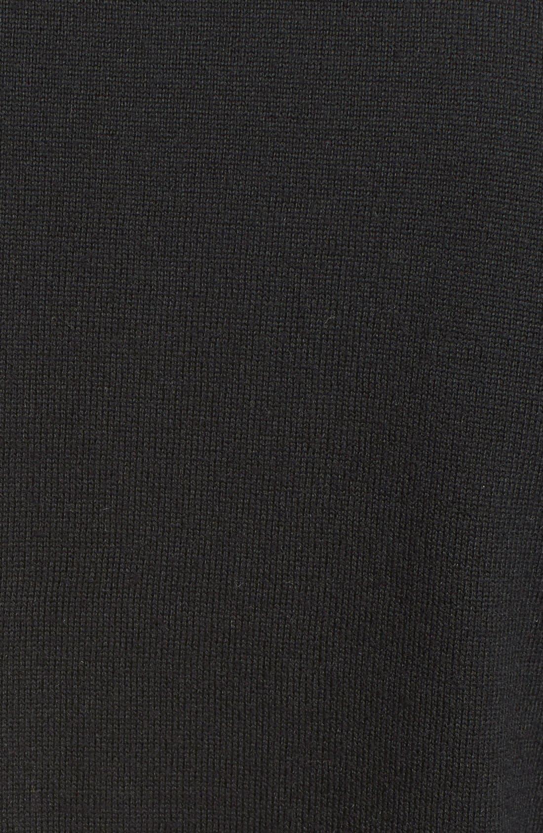 'Kelby' Full Zip Wool Sweater,                             Alternate thumbnail 5, color,                             Black