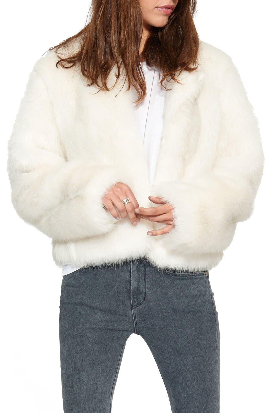 Main Image - n:PHILANTHROPY 'Heather' Faux Fur Jacket