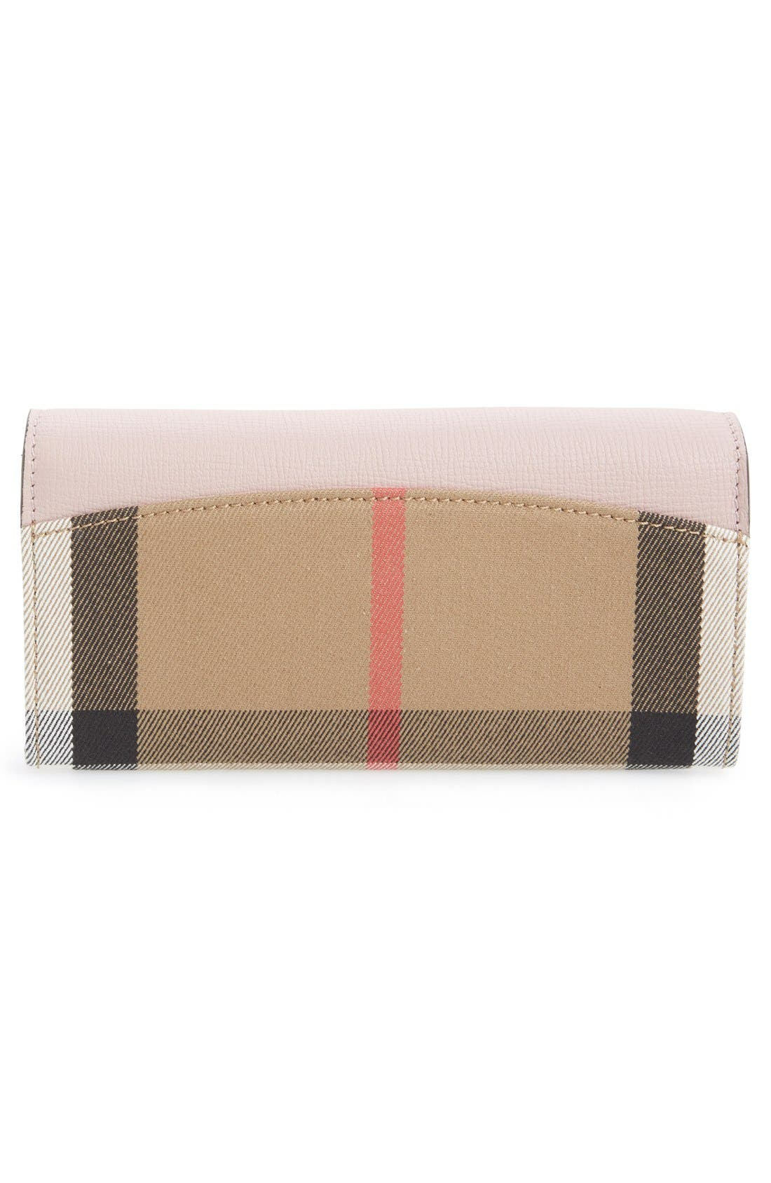 'Porter - Check' Continental Wallet,                             Alternate thumbnail 4, color,                             Pale Orchid