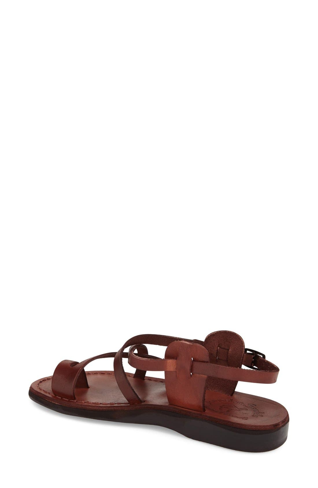 'The Good Shepard' Strappy Sandal,                             Alternate thumbnail 2, color,                             Brown Leather