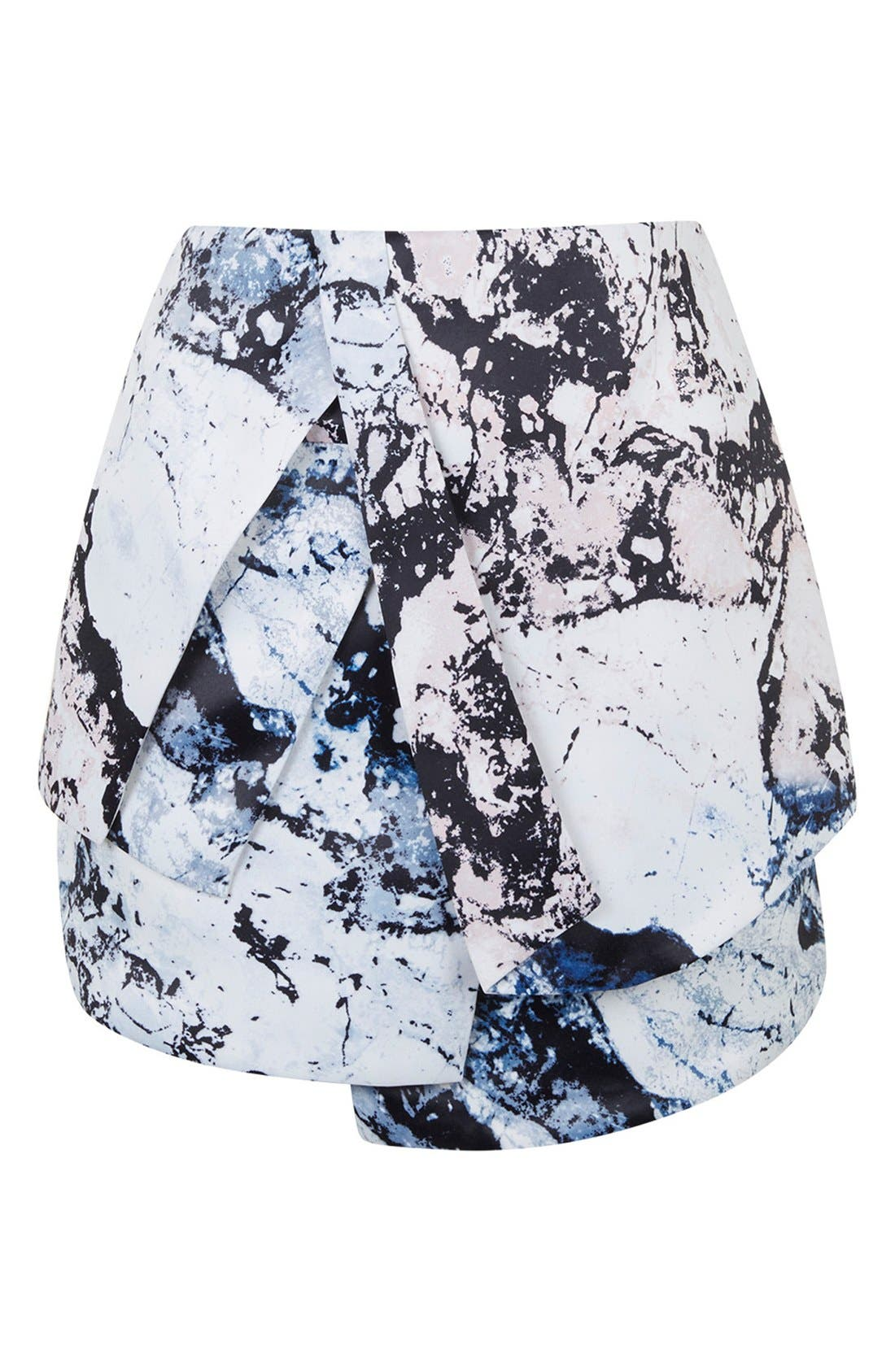 Alternate Image 5  - KENDALL + KYLIE at Topshop Print Structured Skirt