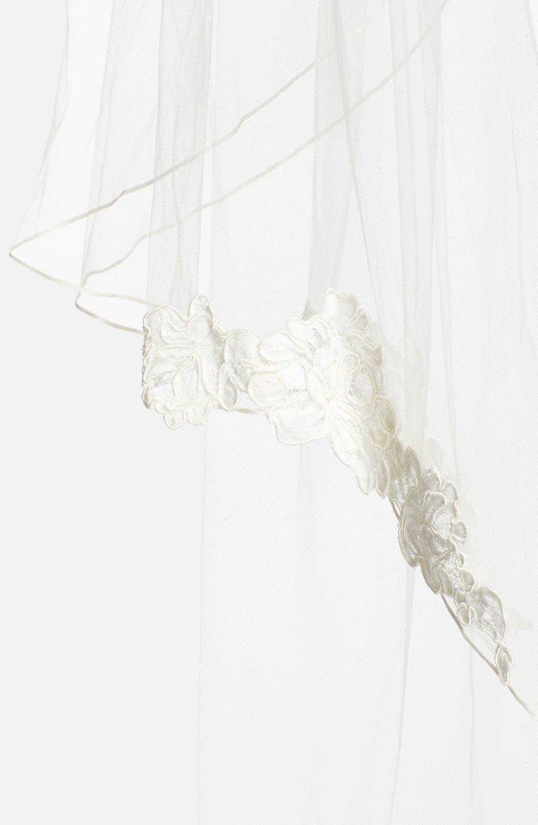 Alternate Image 3  - Toni Federici 'Sunrise' Lace Appliqué Fingertip Veil