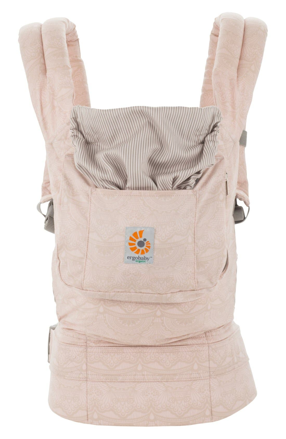 Organic Cotton Baby Carrier,                         Main,                         color, Rose Harmony