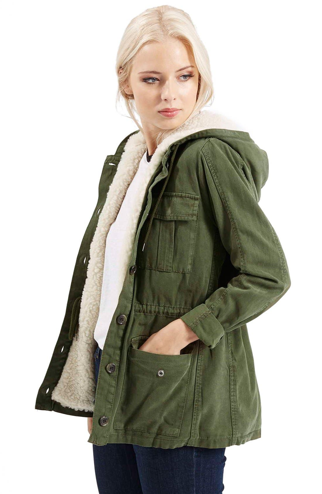 Alternate Image 4  - Topshop 'Esme' Faux Fur Lined Parka