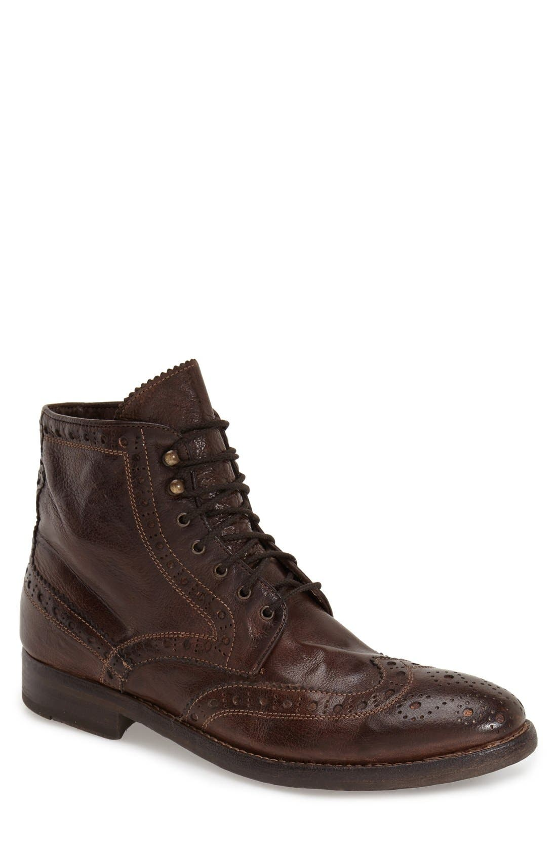 'Brennan' Boot,                             Main thumbnail 1, color,                             Chocolate Leather