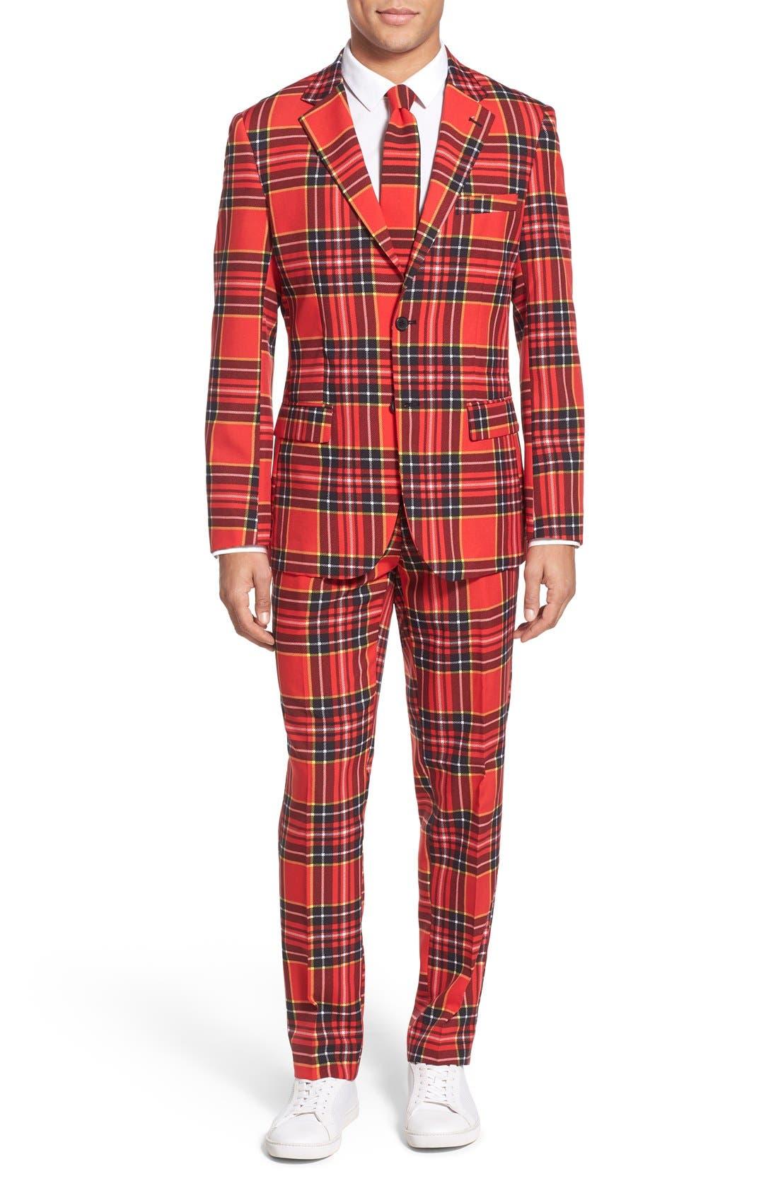 OppoSuits 'Lumberjack' Holiday Suit & Tie